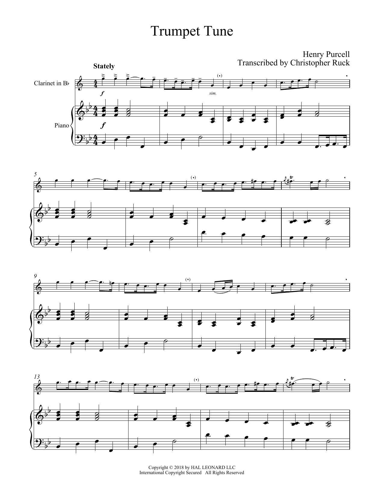 Trumpet Tune (Clarinet and Piano)