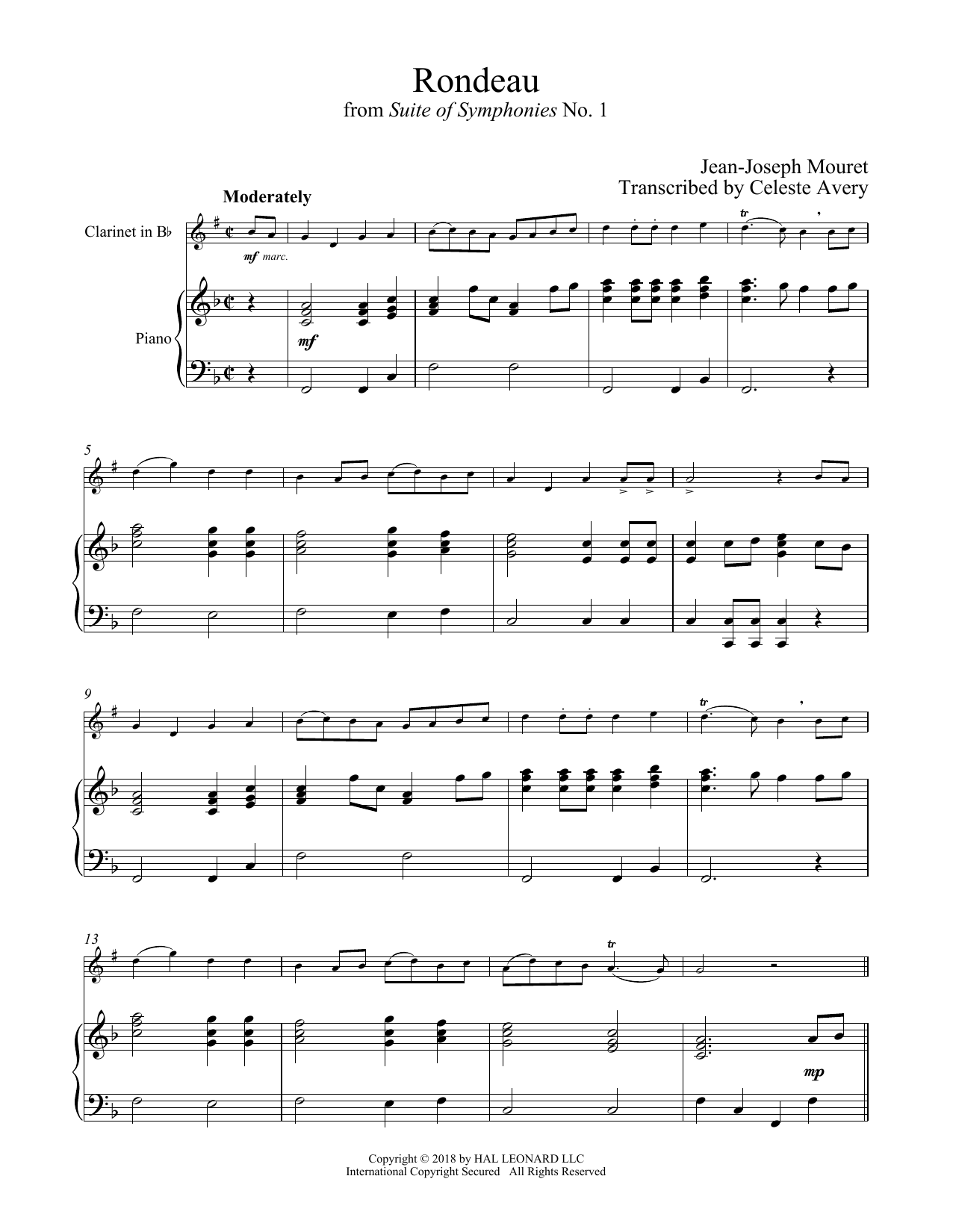 Fanfare Rondeau (Clarinet and Piano)