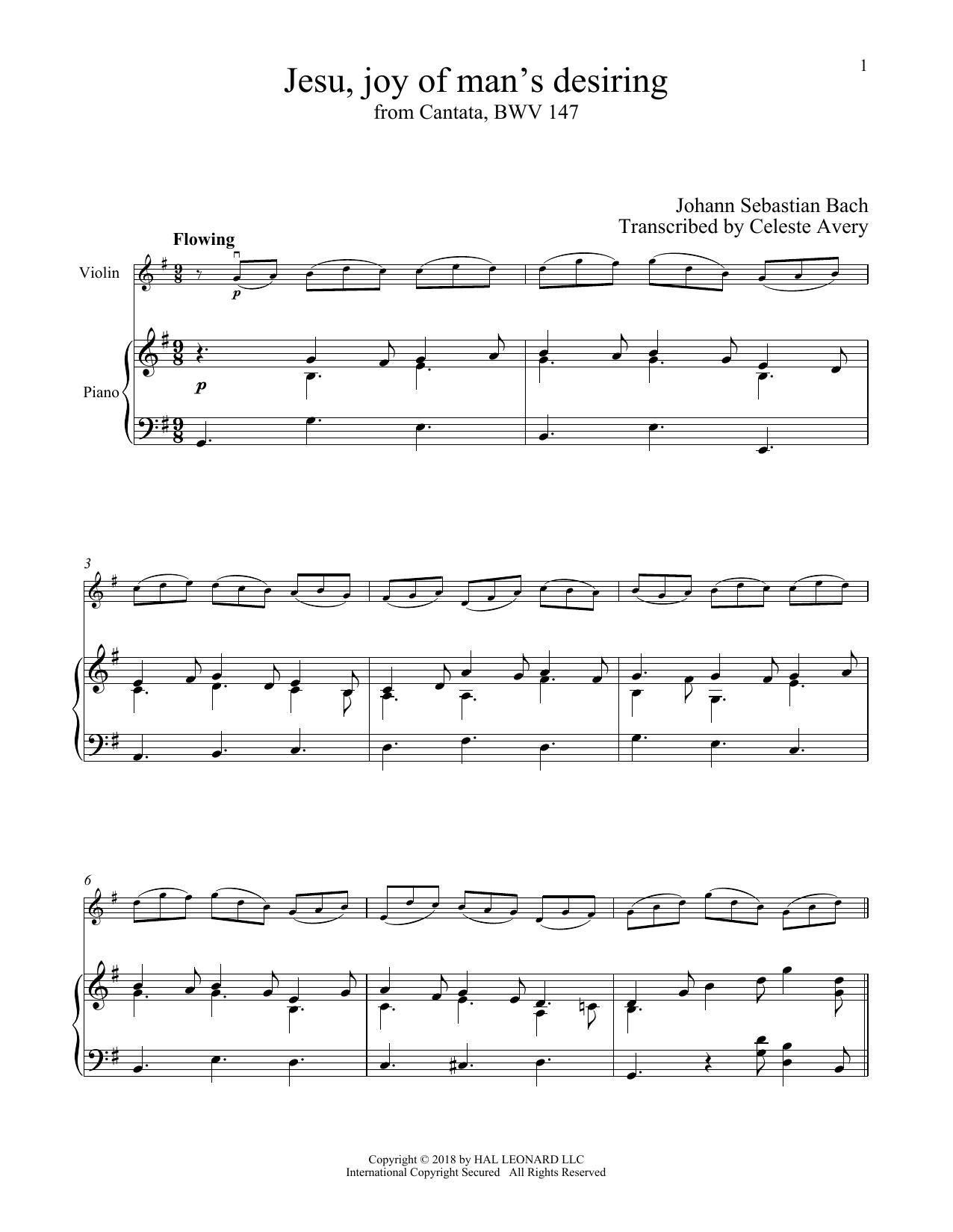Jesu, Joy Of Man's Desiring (Violin and Piano)