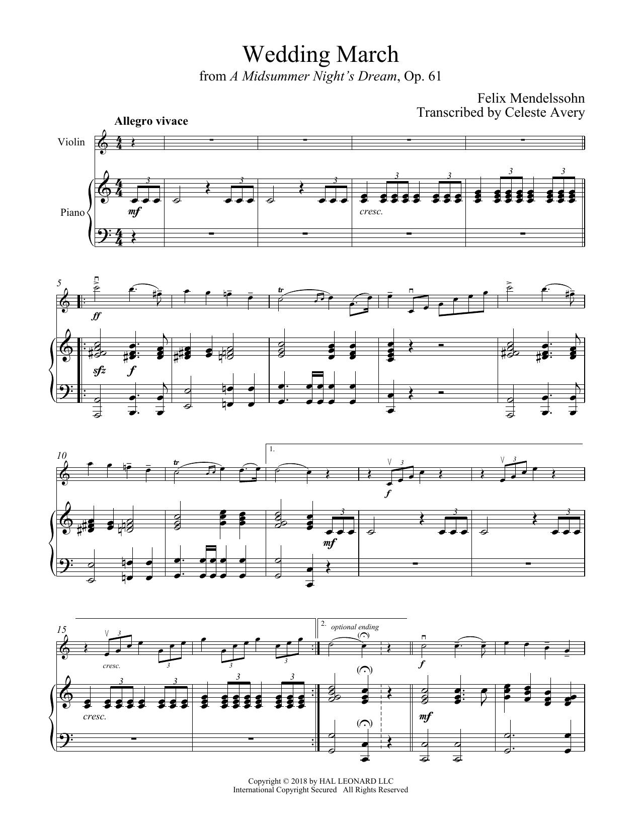 Wedding March (Violin and Piano)