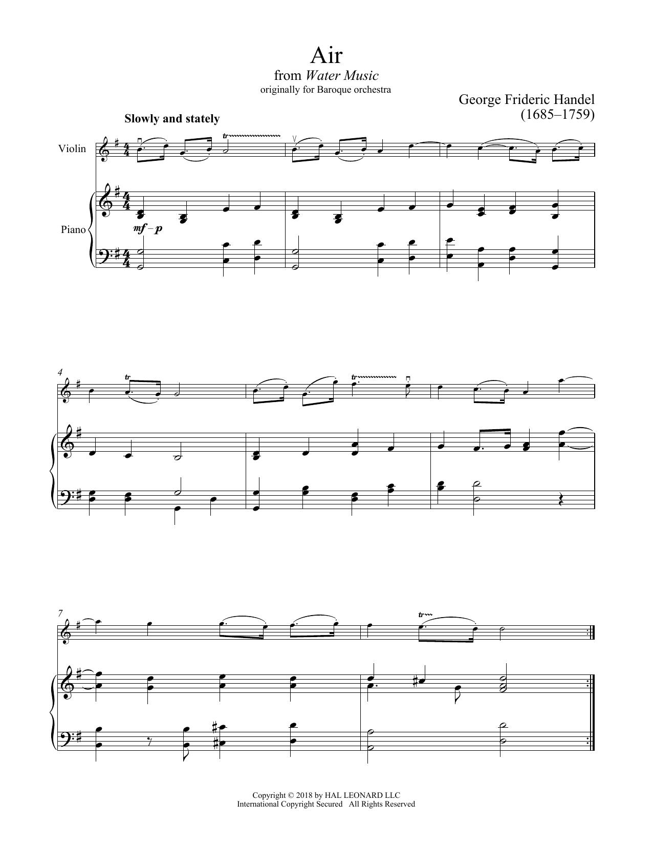 Air (Violin and Piano)
