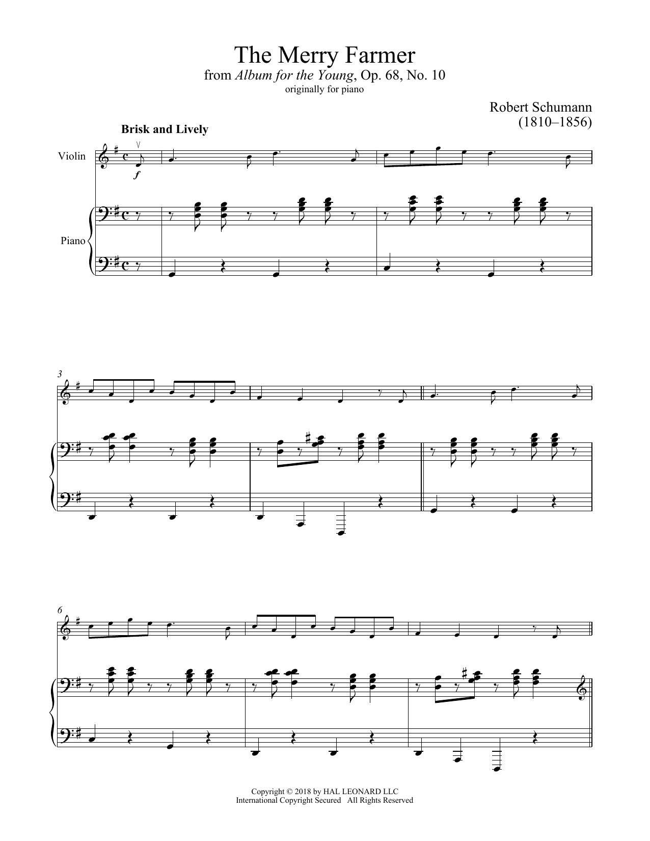 The Happy Farmer (Violin and Piano)