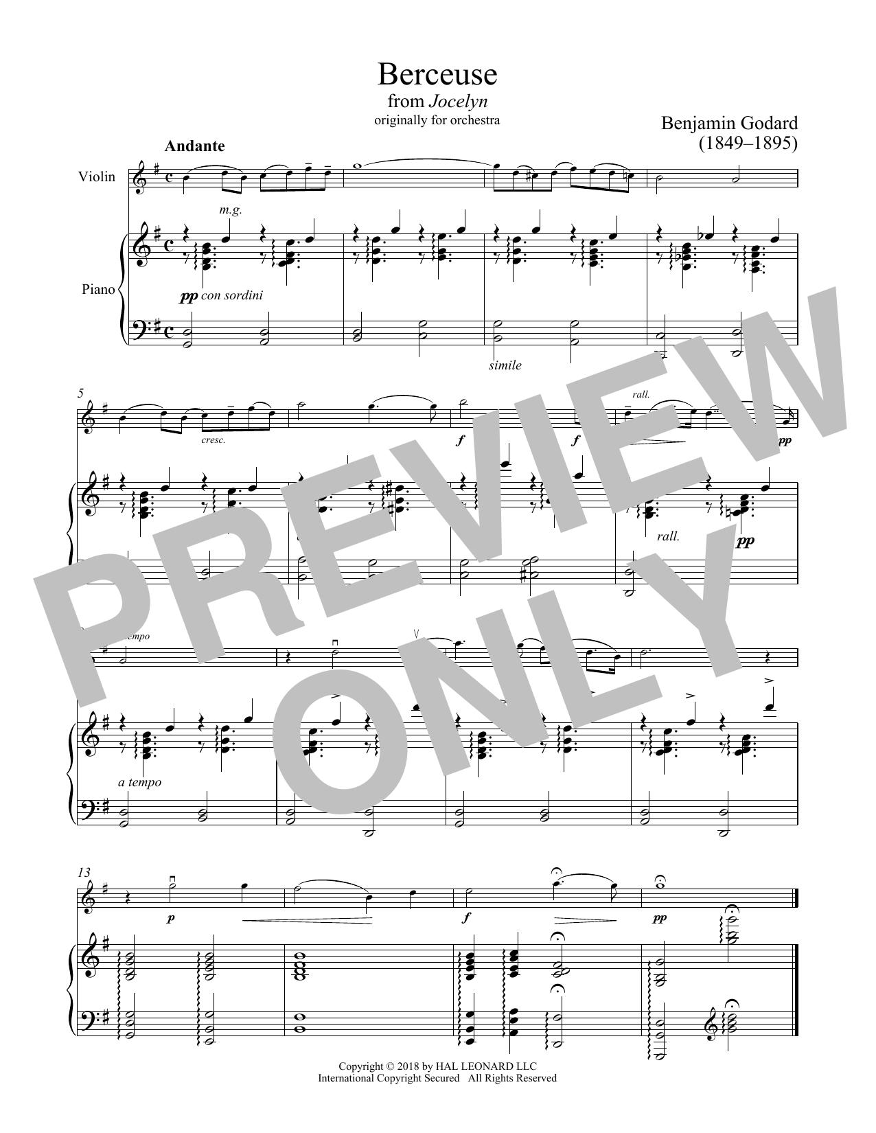 Berceuse (Violin and Piano)