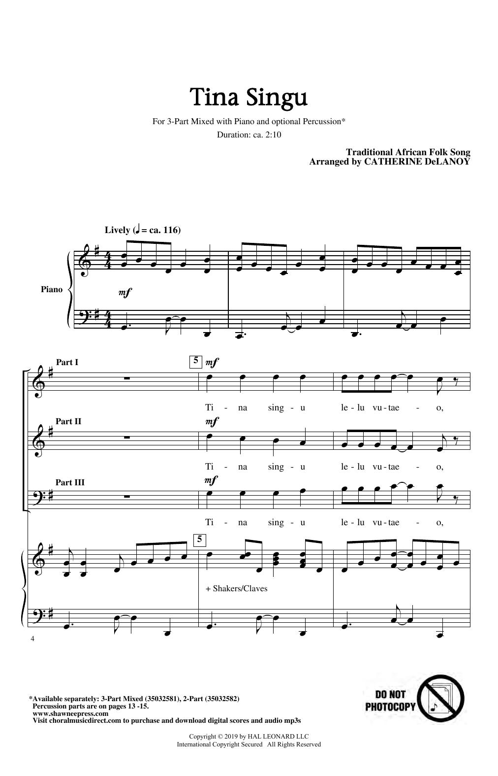 Tina Singu (3-Part Mixed Choir)