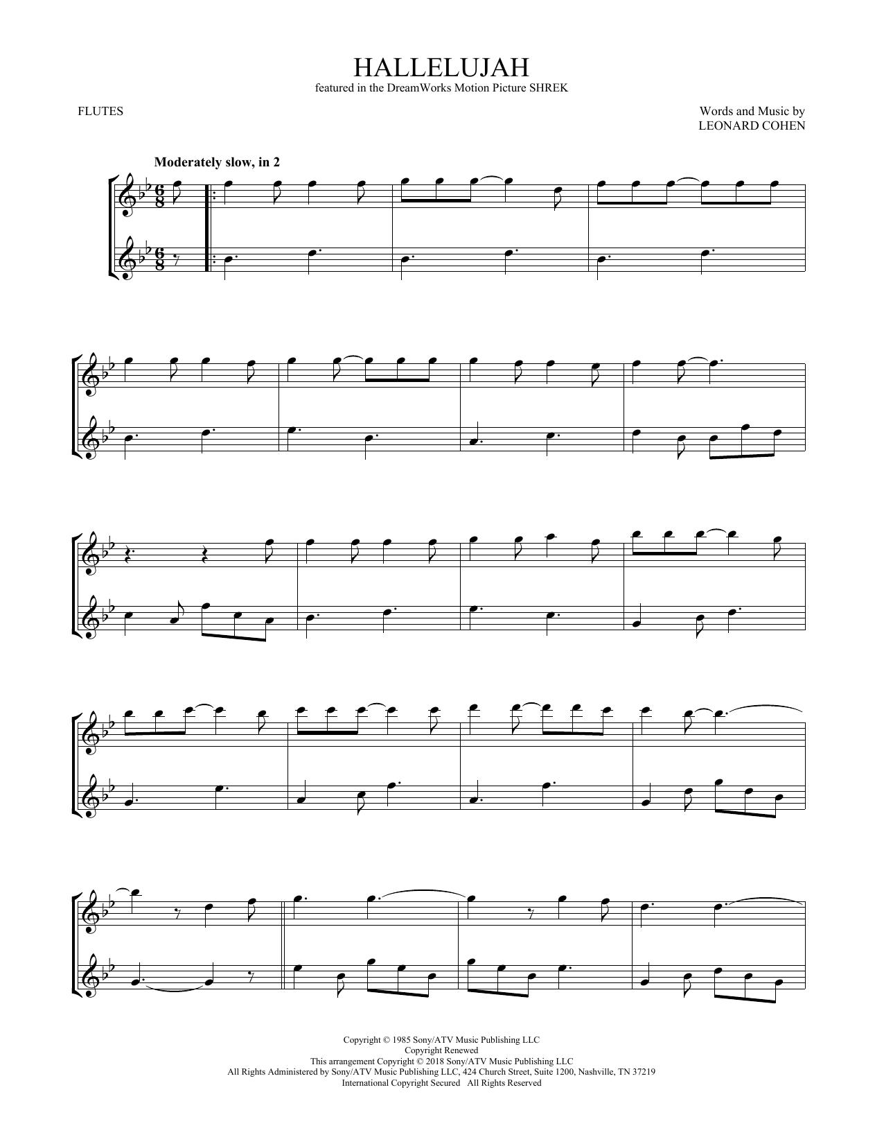 Hallelujah (Flute Duet)