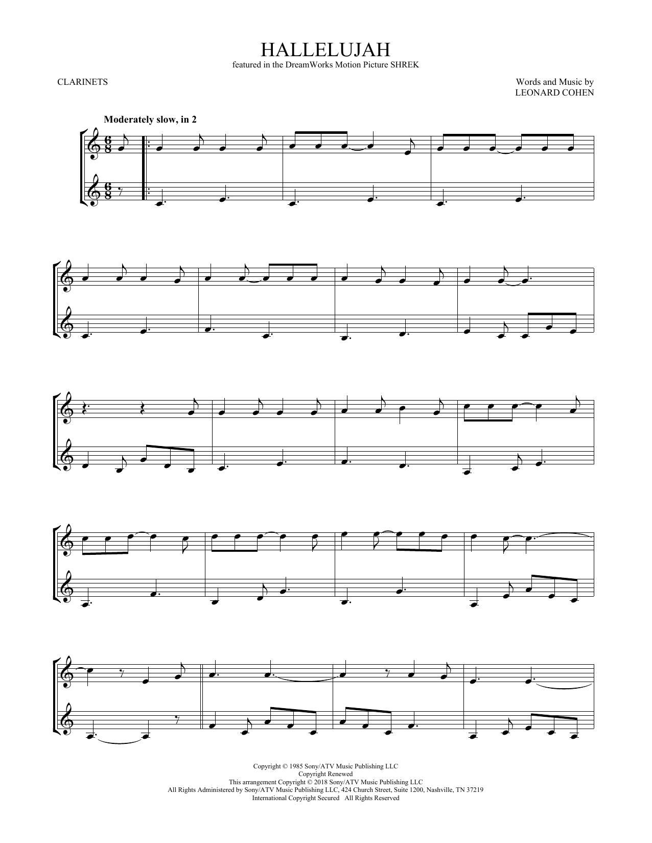 Hallelujah (Clarinet Duet)