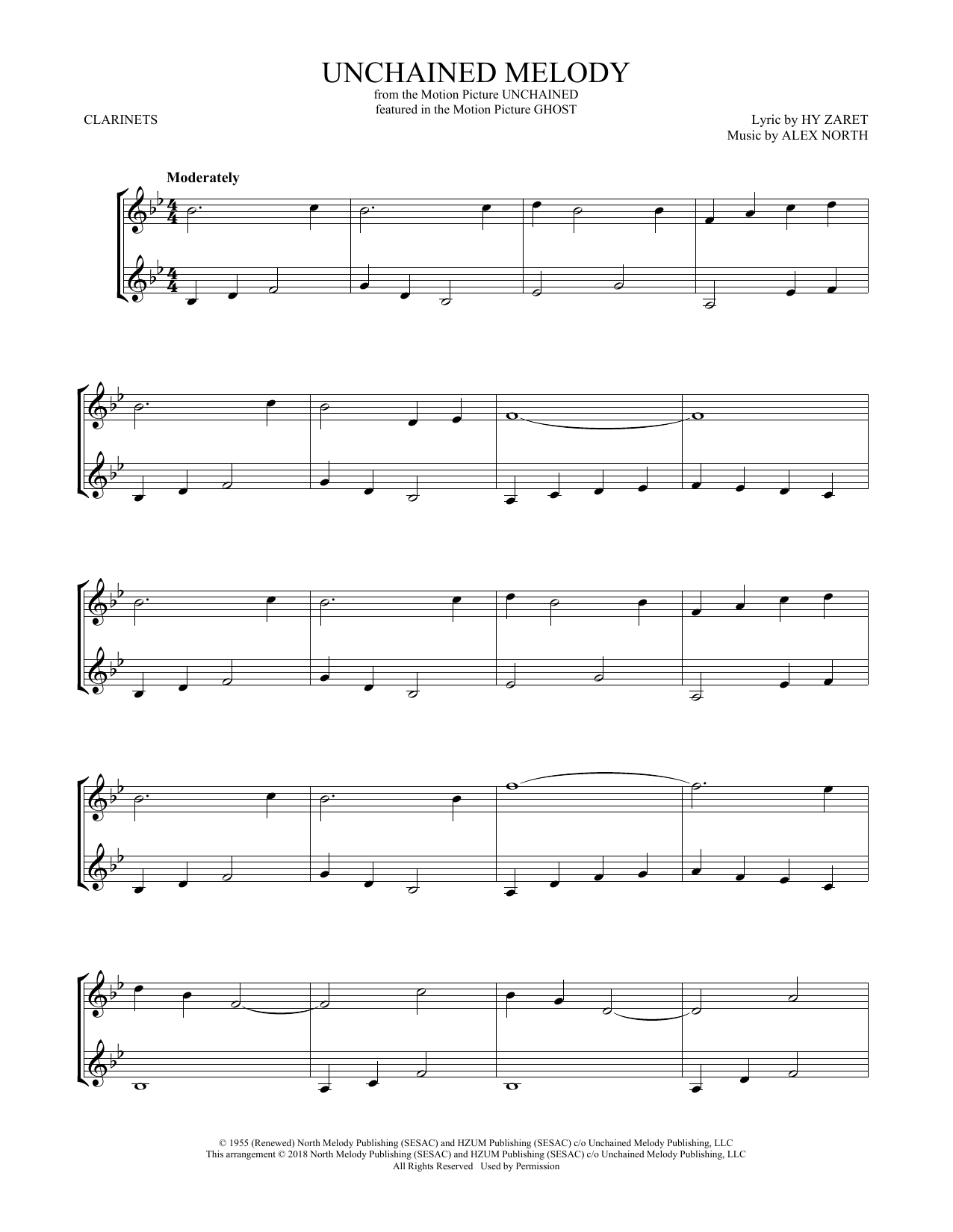 Unchained Melody (Clarinet Duet)