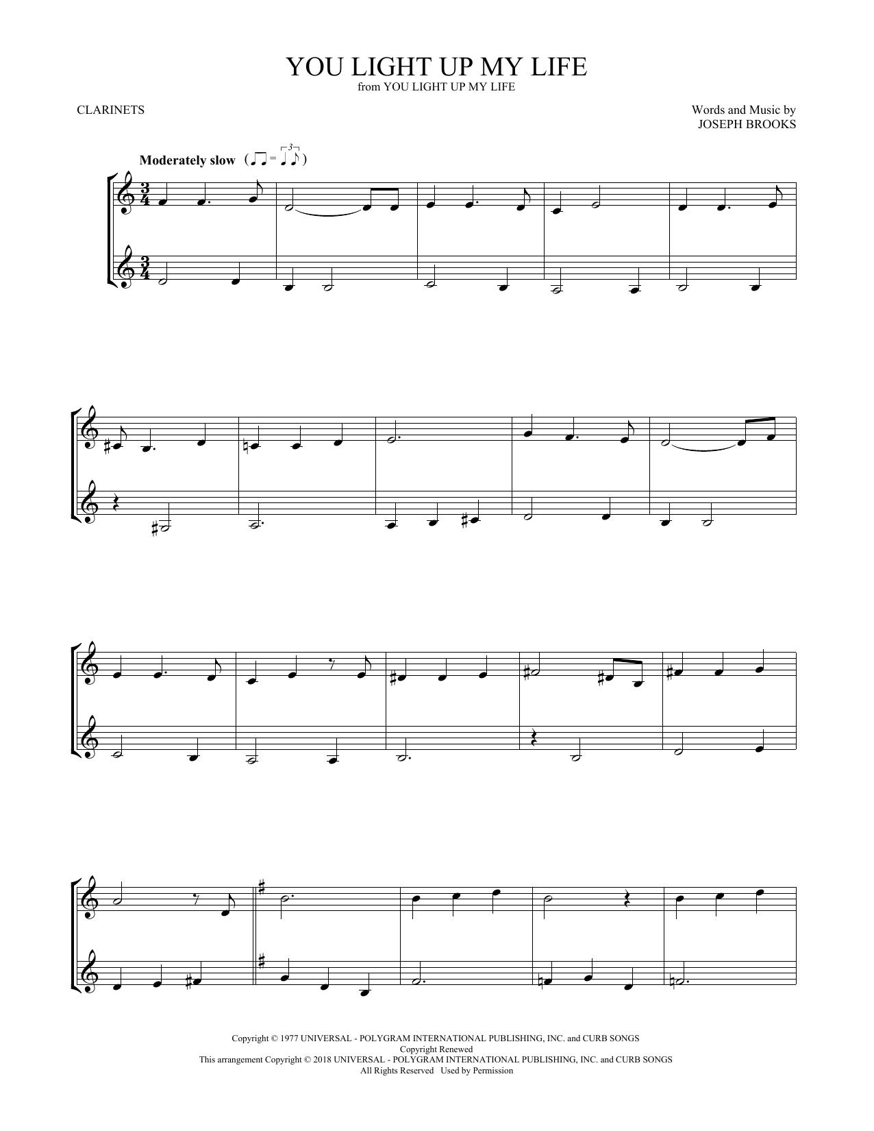 You Light Up My Life (Clarinet Duet)
