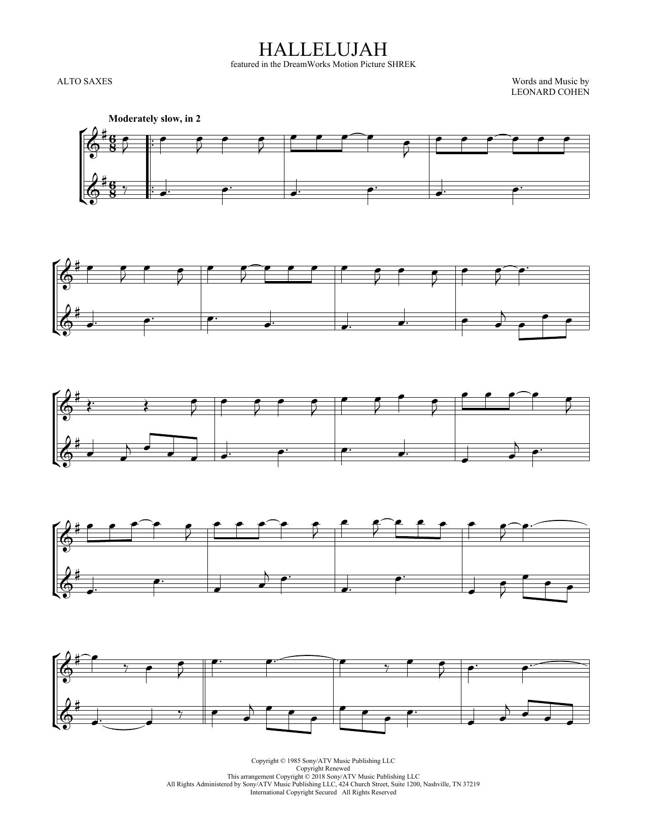 Hallelujah (Alto Sax Duet)