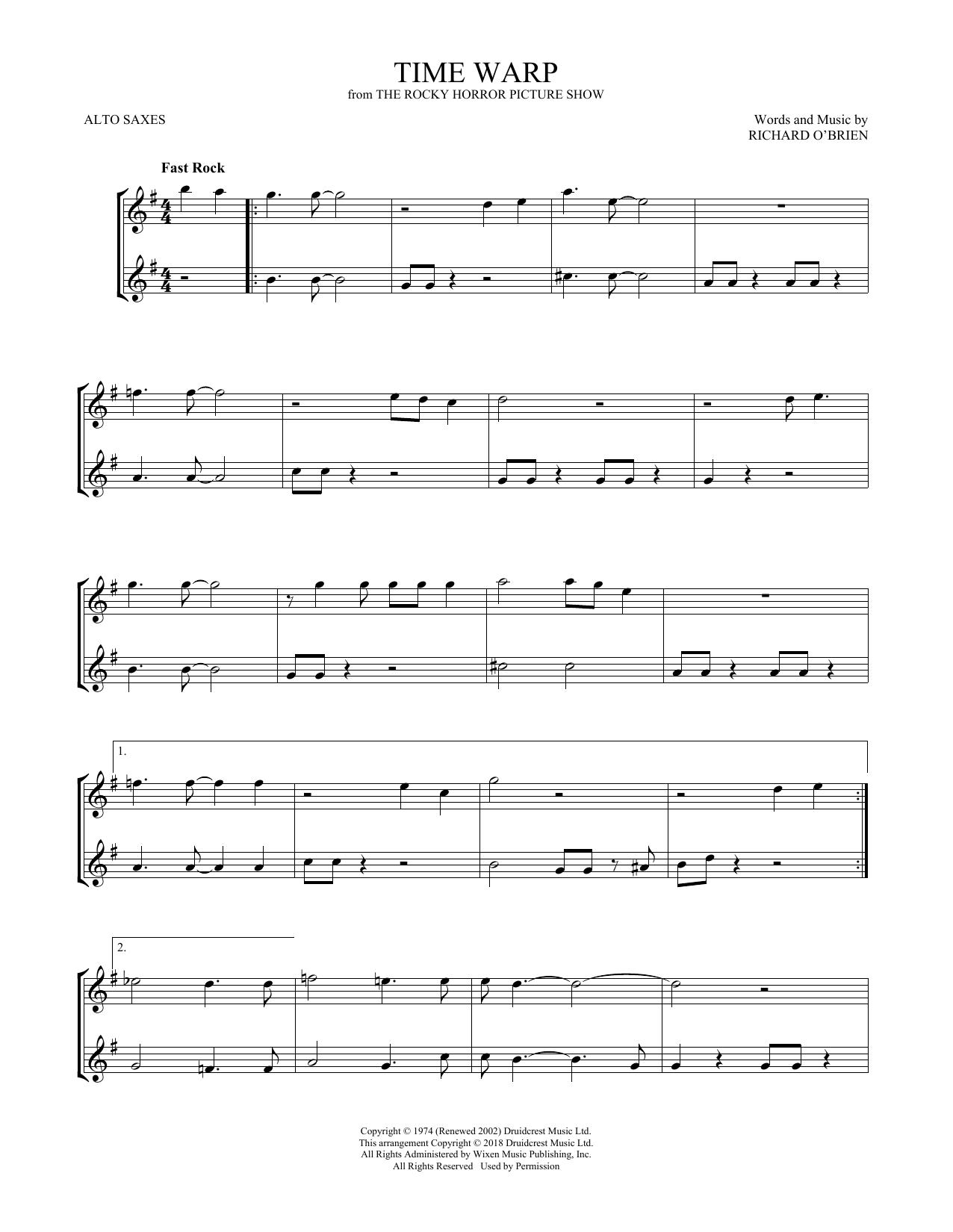 Time Warp (Alto Sax Duet)