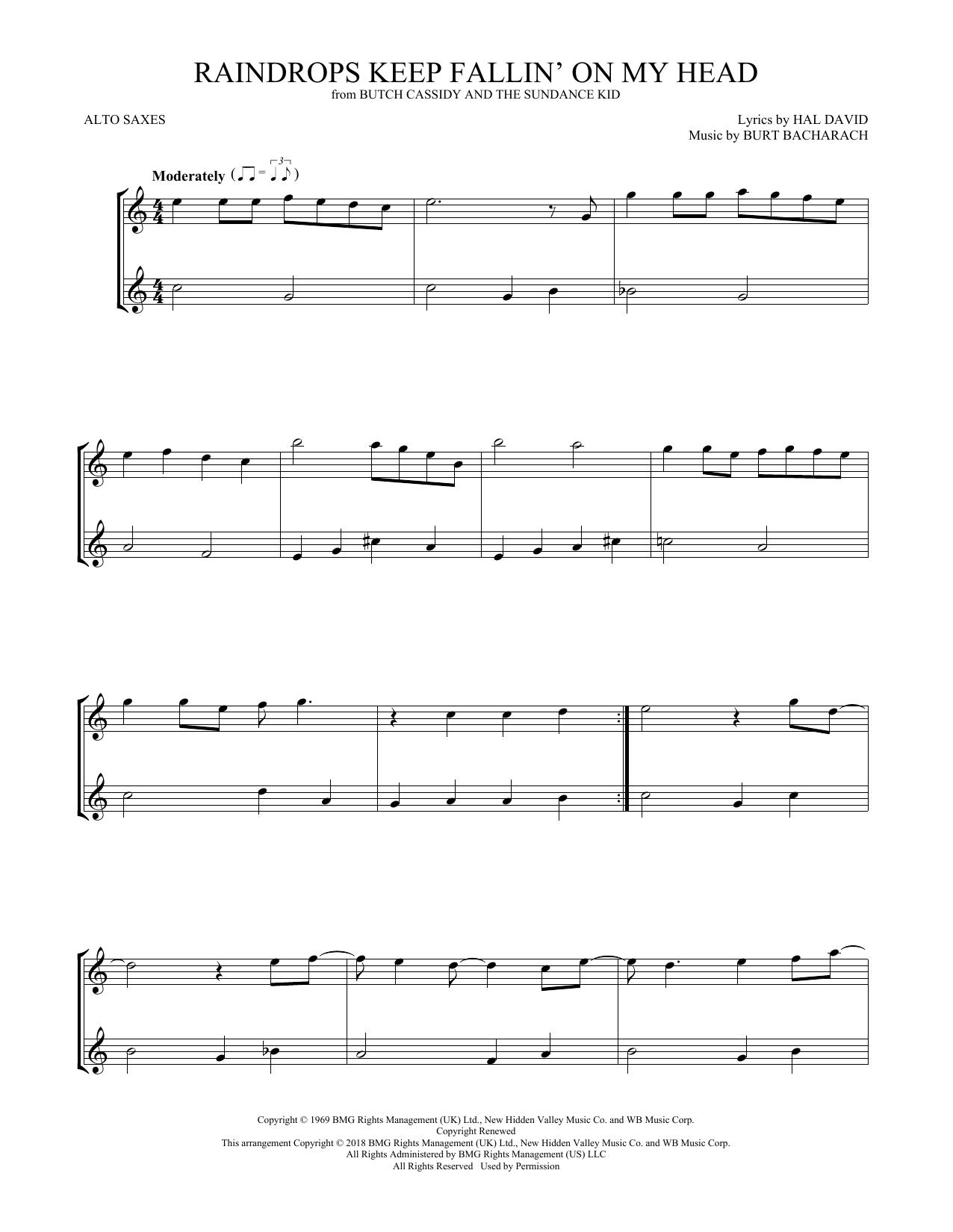 Raindrops Keep Fallin' On My Head (Alto Sax Duet)