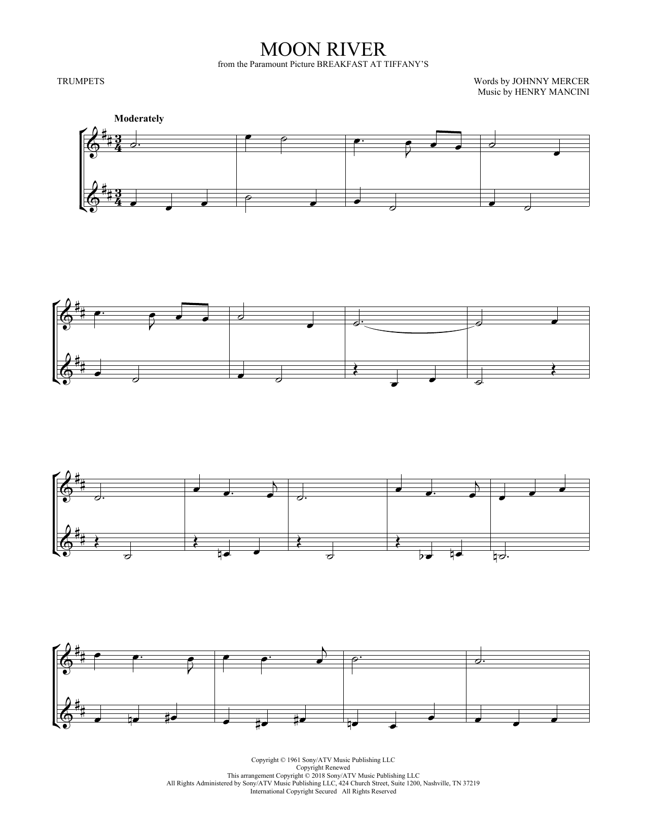 Moon River (Trumpet Duet)