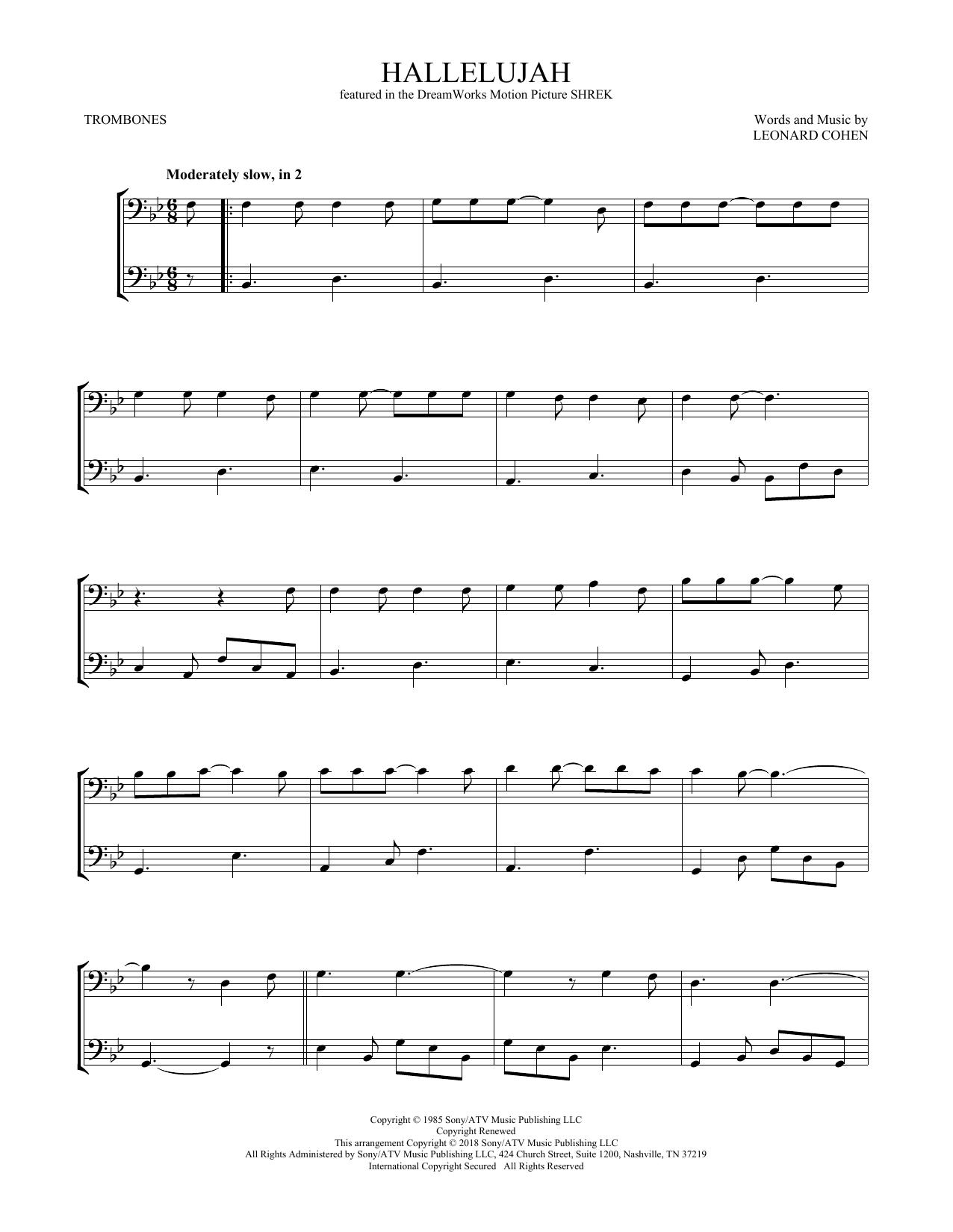 Hallelujah (Trombone Duet)