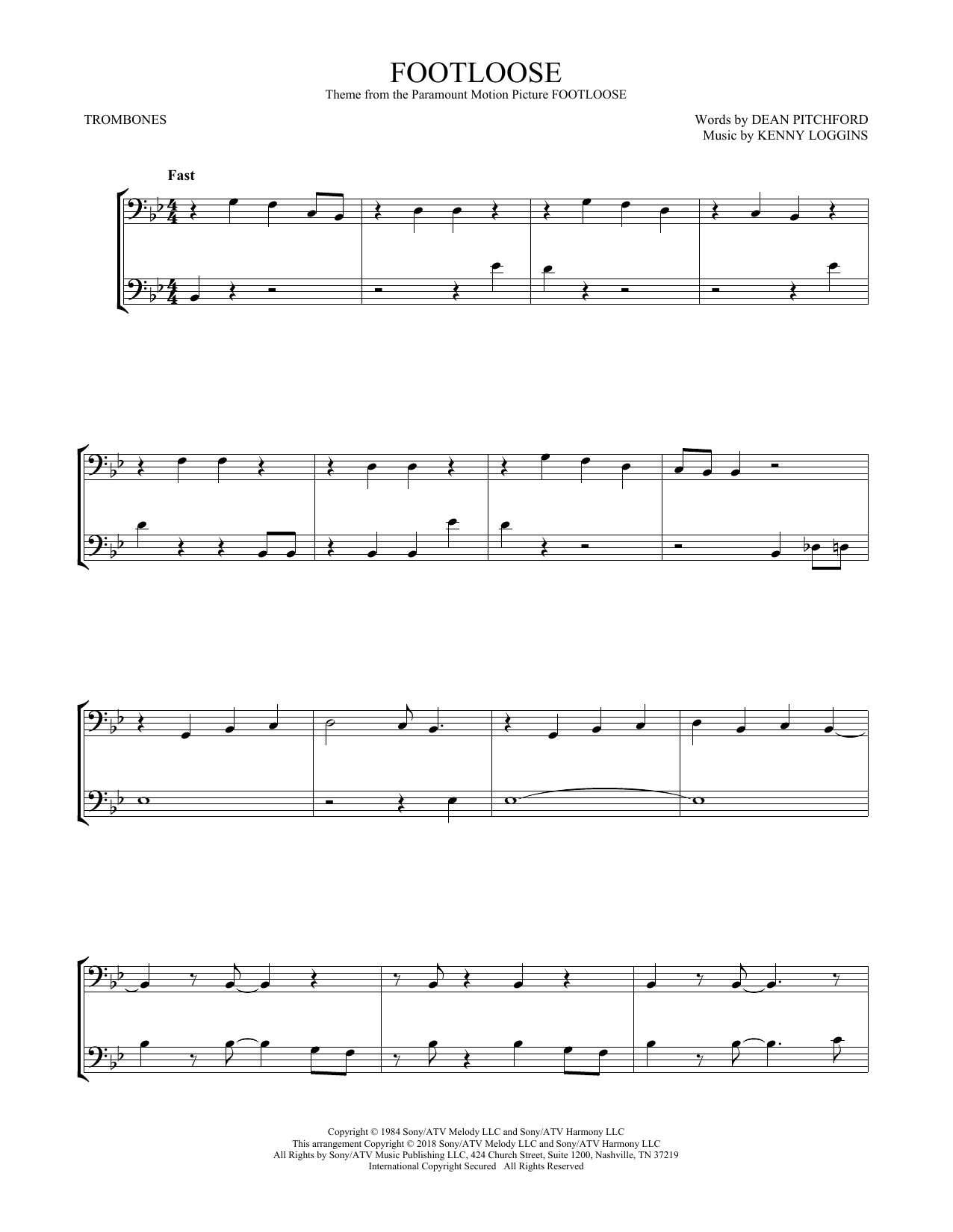 Footloose (Trombone Duet)