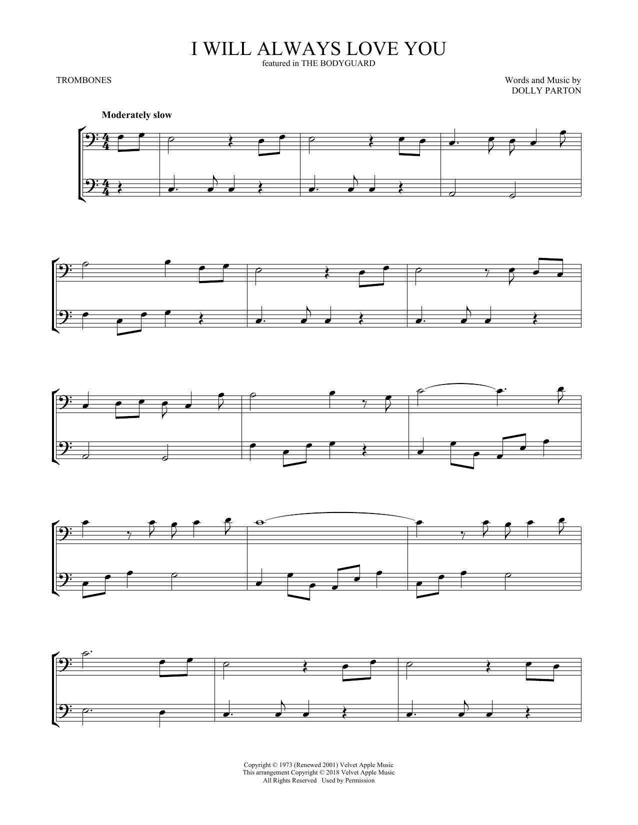 I Will Always Love You (Trombone Duet)
