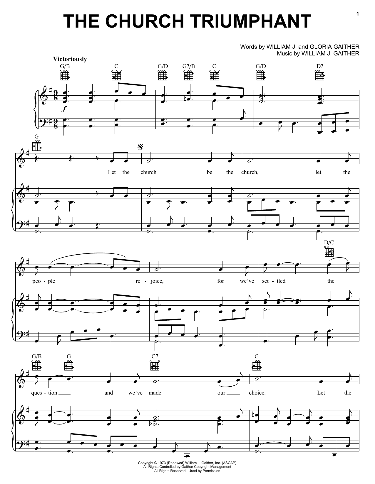 The Church Triumphant (Piano, Vocal & Guitar (Right-Hand Melody))