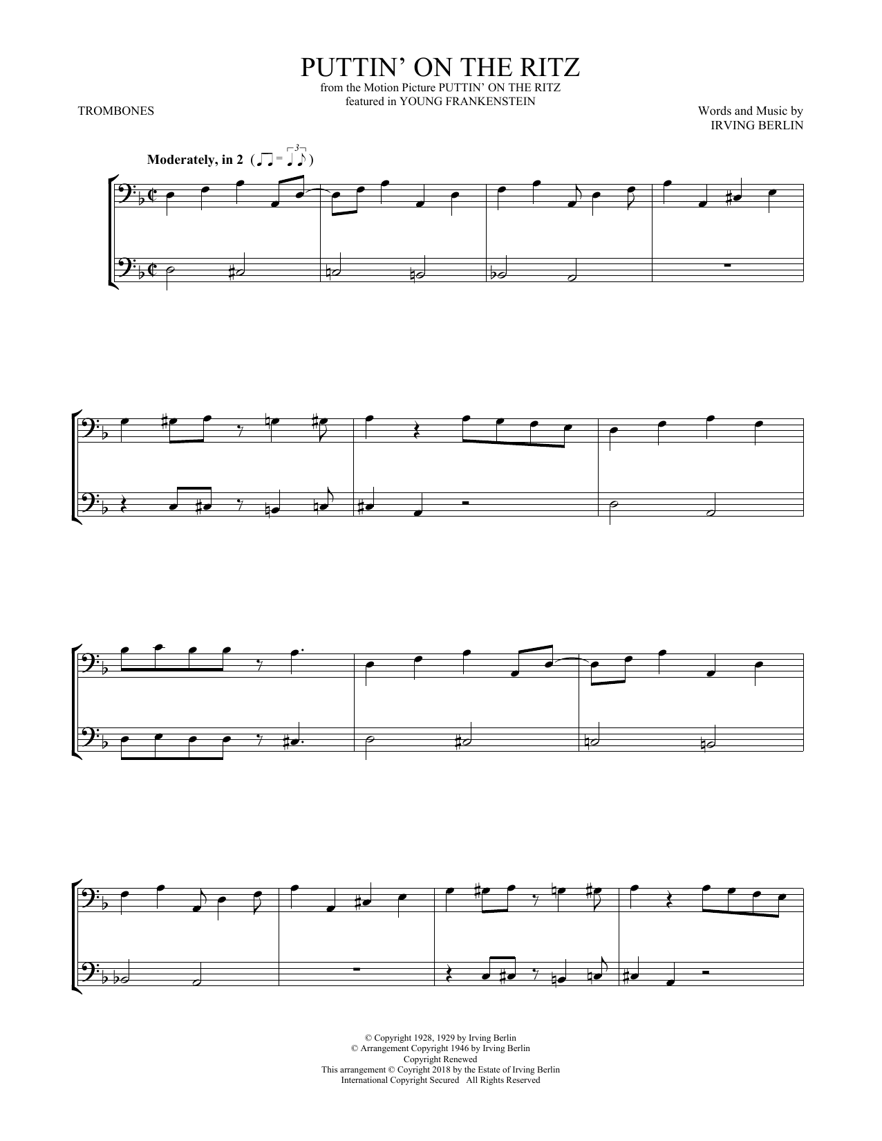 Puttin' On The Ritz (Trombone Duet)
