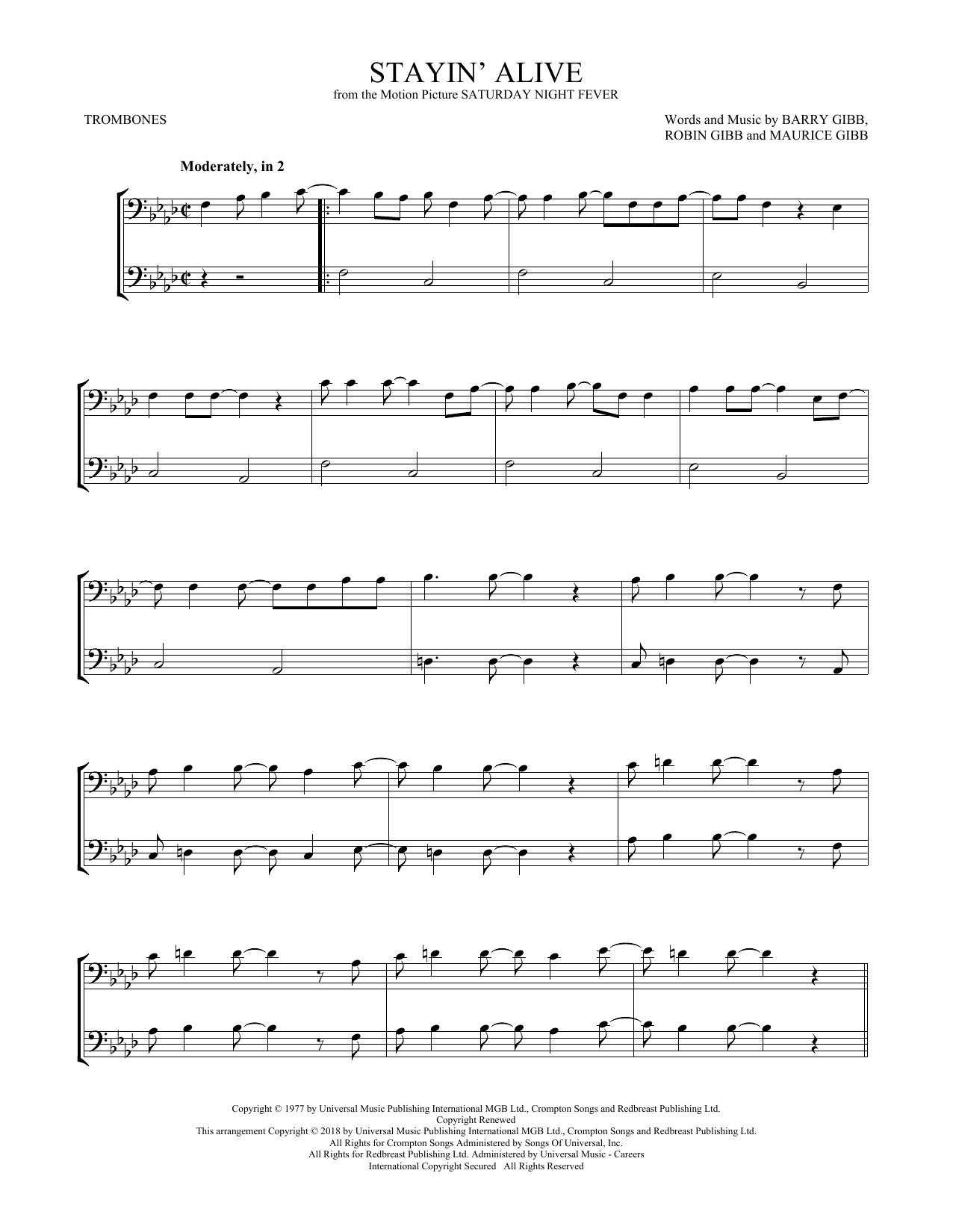 Stayin' Alive (Trombone Duet)