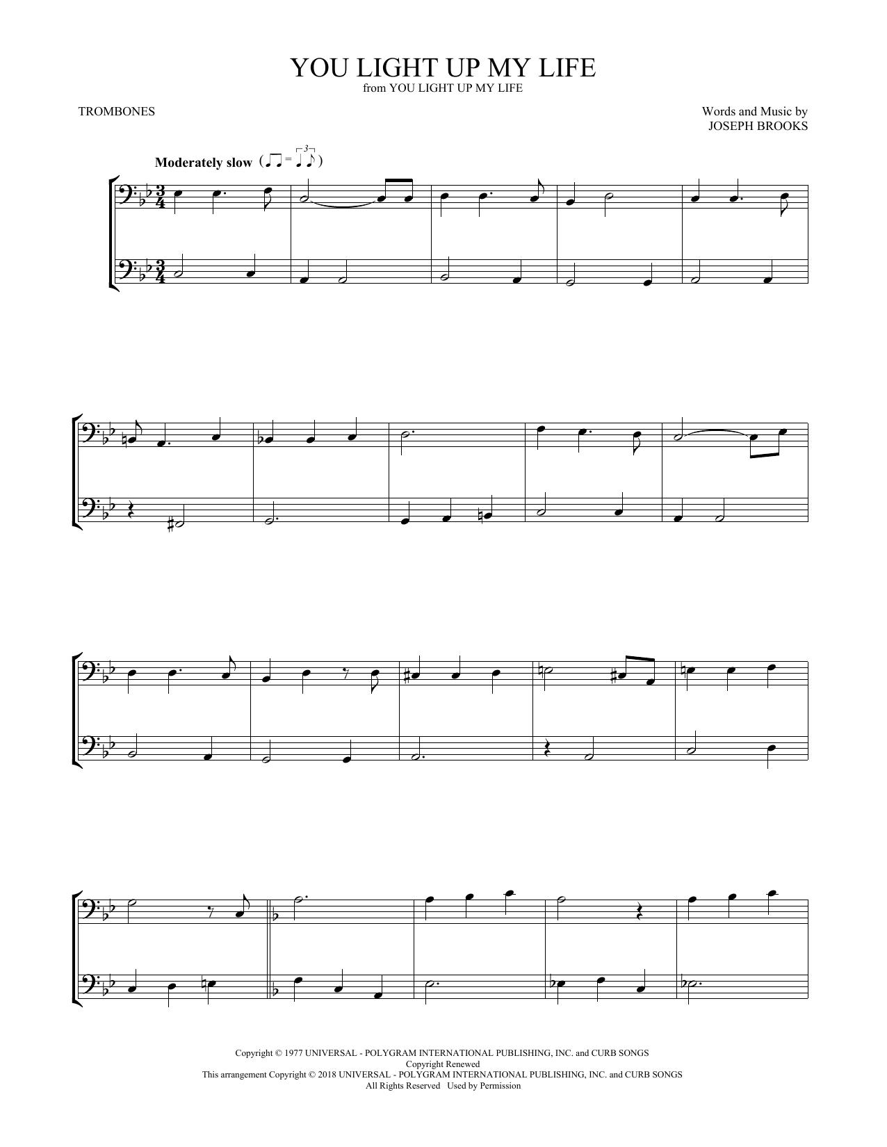 You Light Up My Life (Trombone Duet)