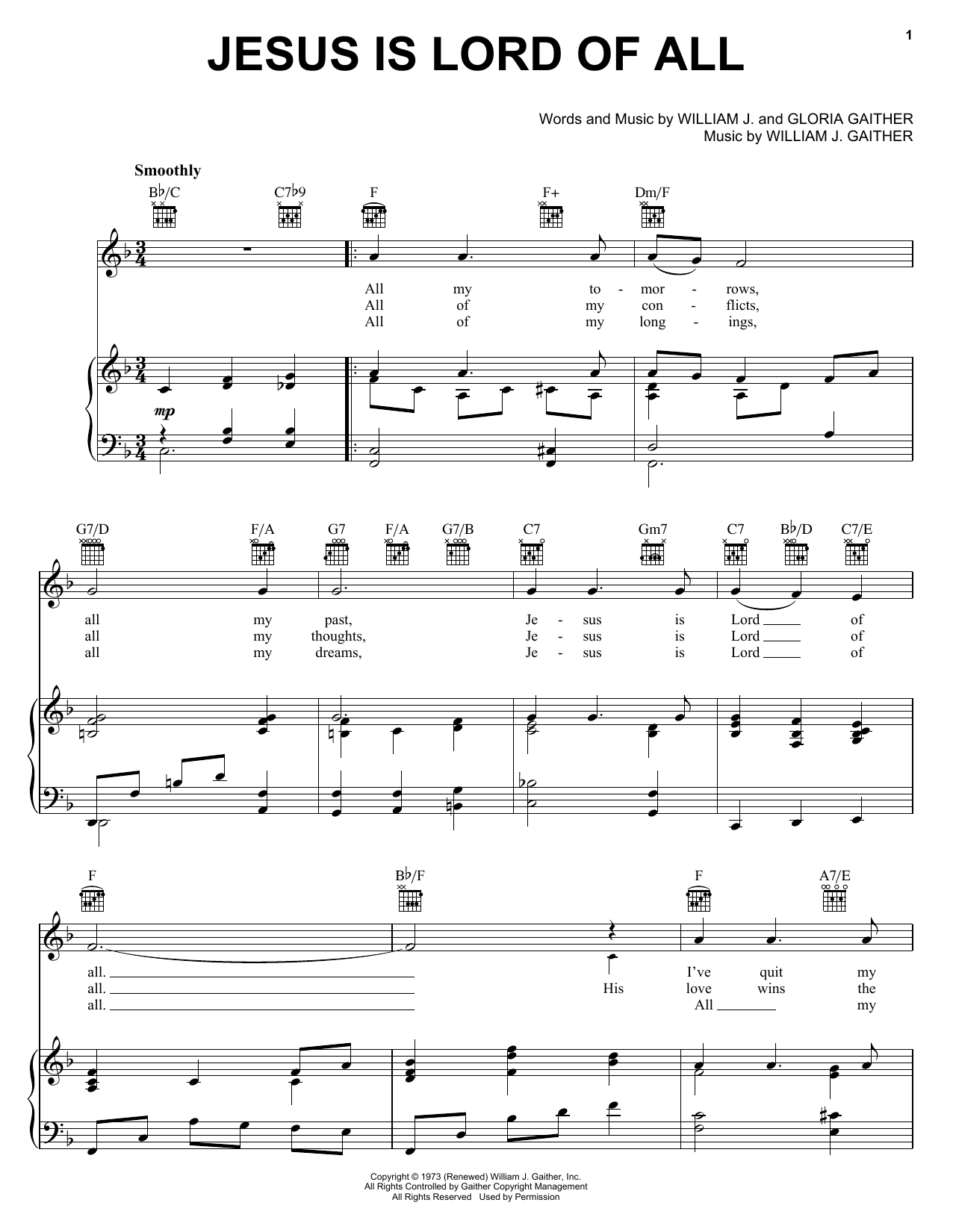 Jesus Is Lord Of All (Piano, Vocal & Guitar (Right-Hand Melody))