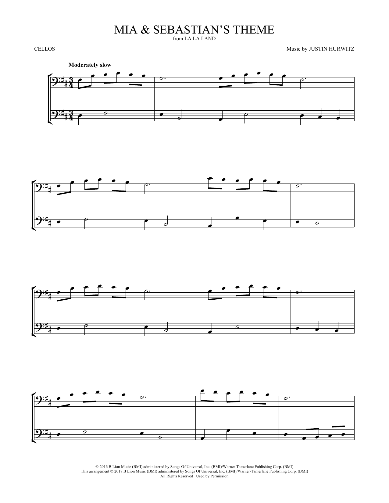 Mia & Sebastian's Theme (from La La Land) (Cello Duet)