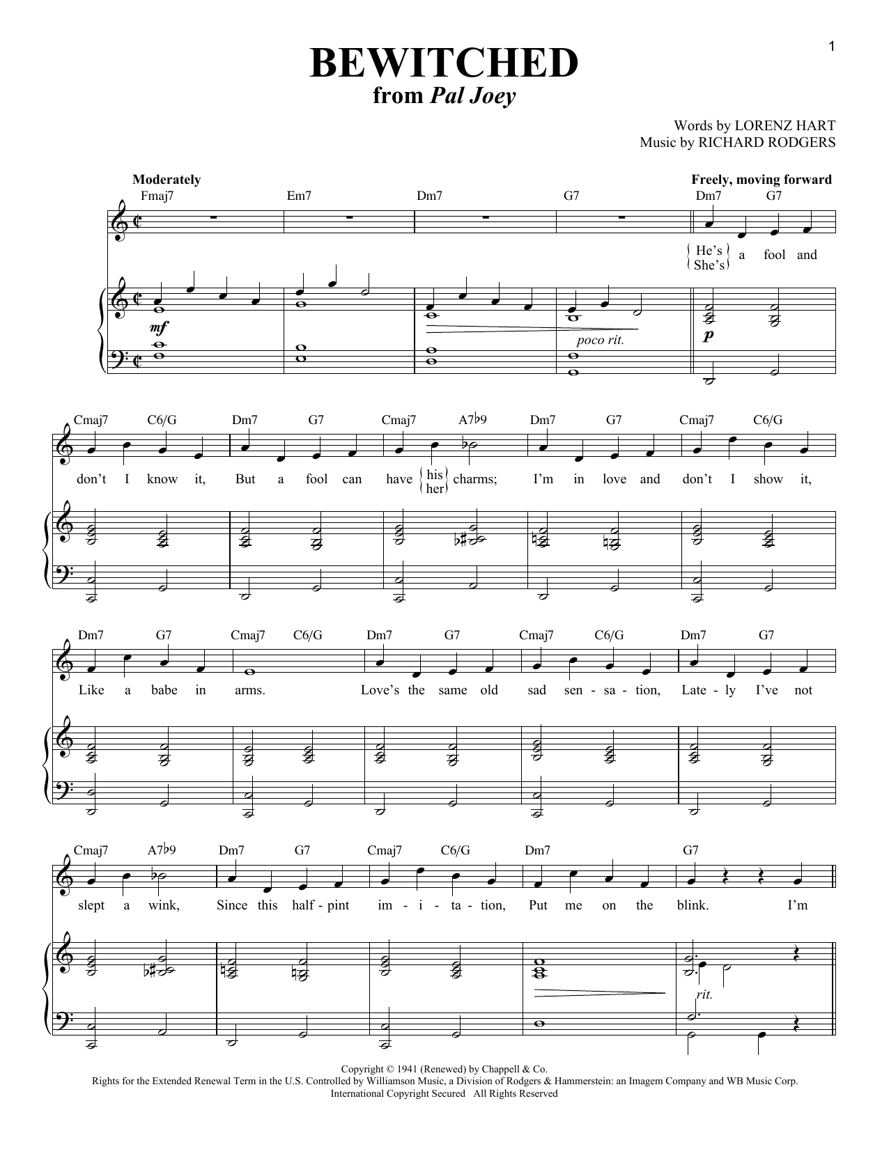 Bewitched (Piano & Vocal)