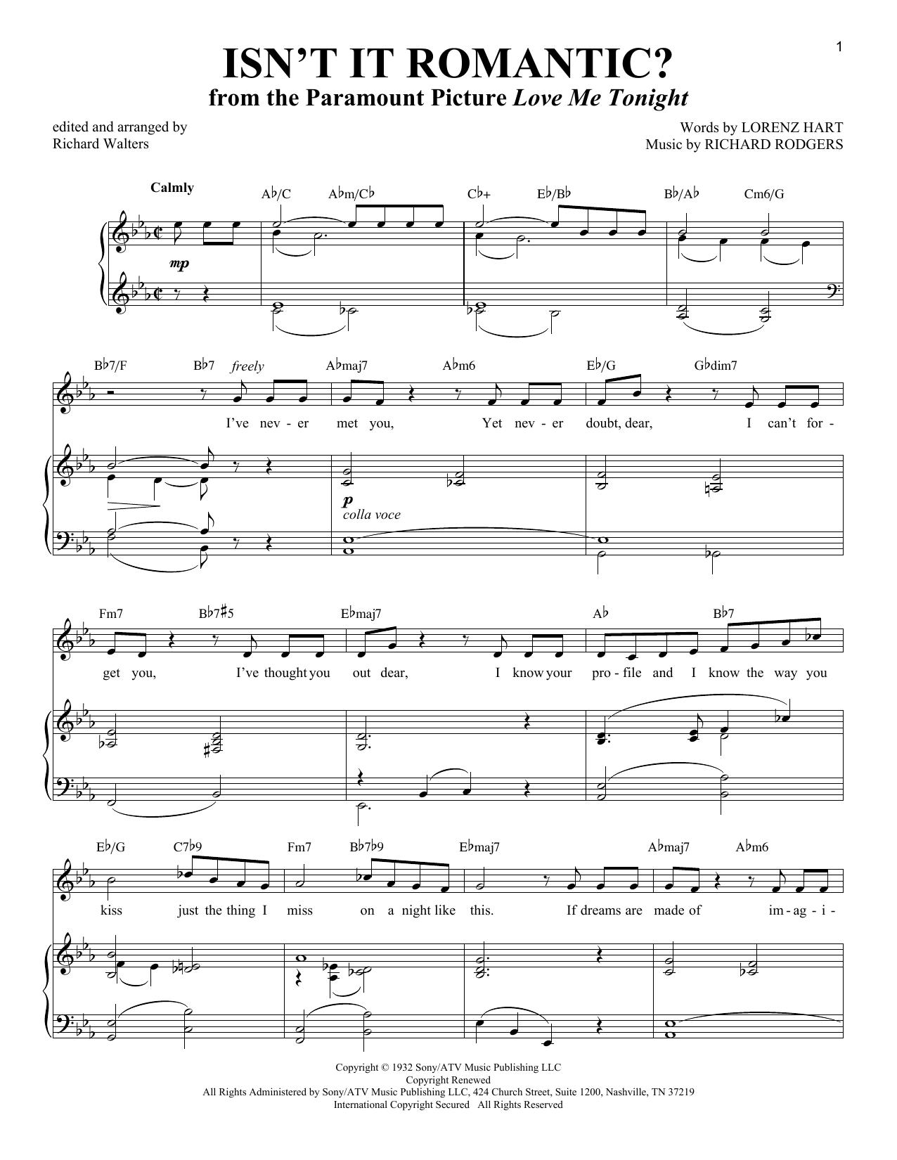 Isn't It Romantic? (Piano & Vocal)