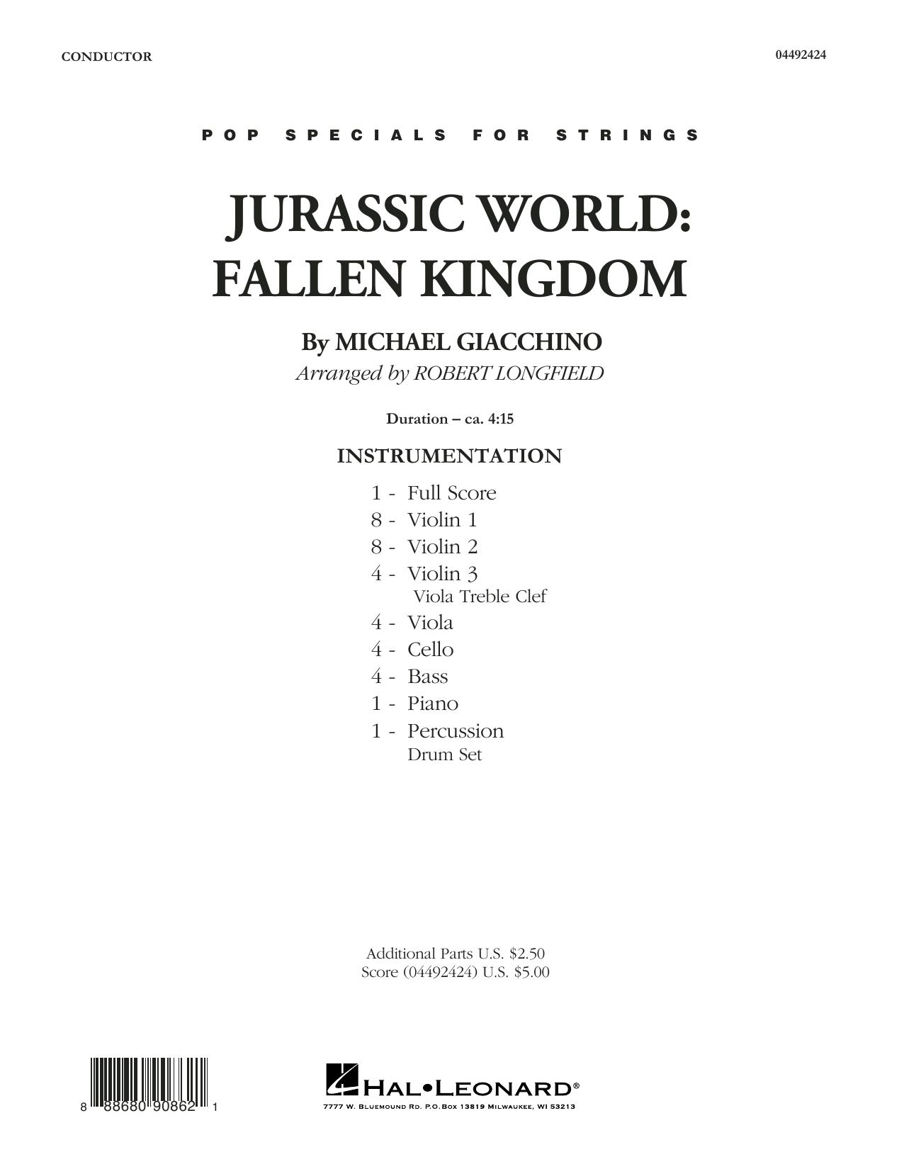 Jurassic World: Fallen Kingdom (arr. Robert Longfield) - Conductor Score (Full Score) (Orchestra)