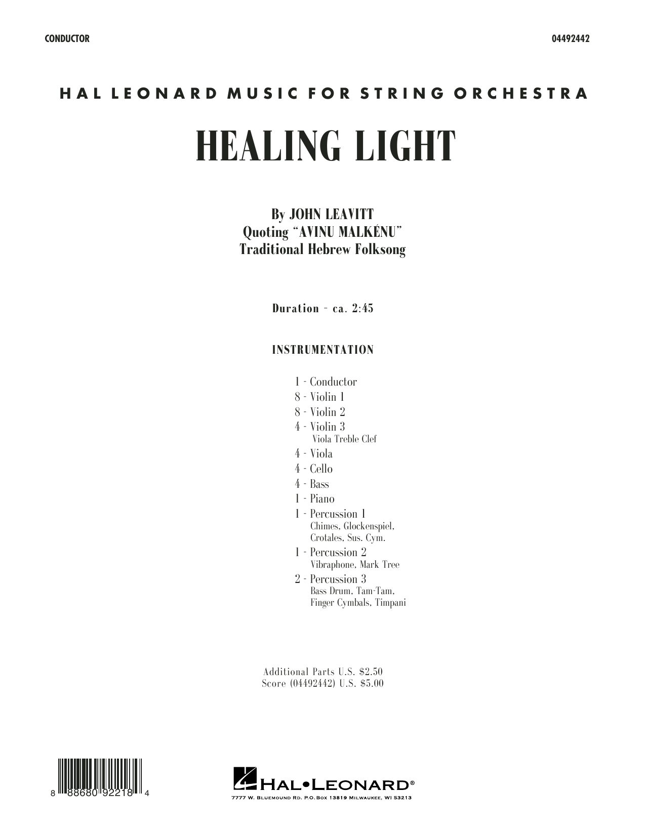 Healing Light - Conductor Score (Full Score) (Orchestra)