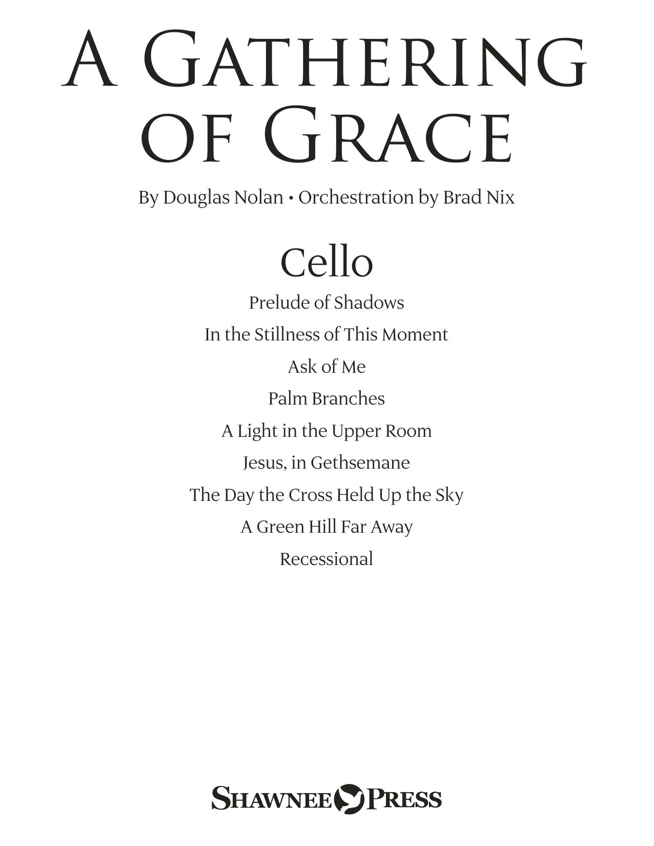 A Gathering of Grace - Cello Partituras Digitales