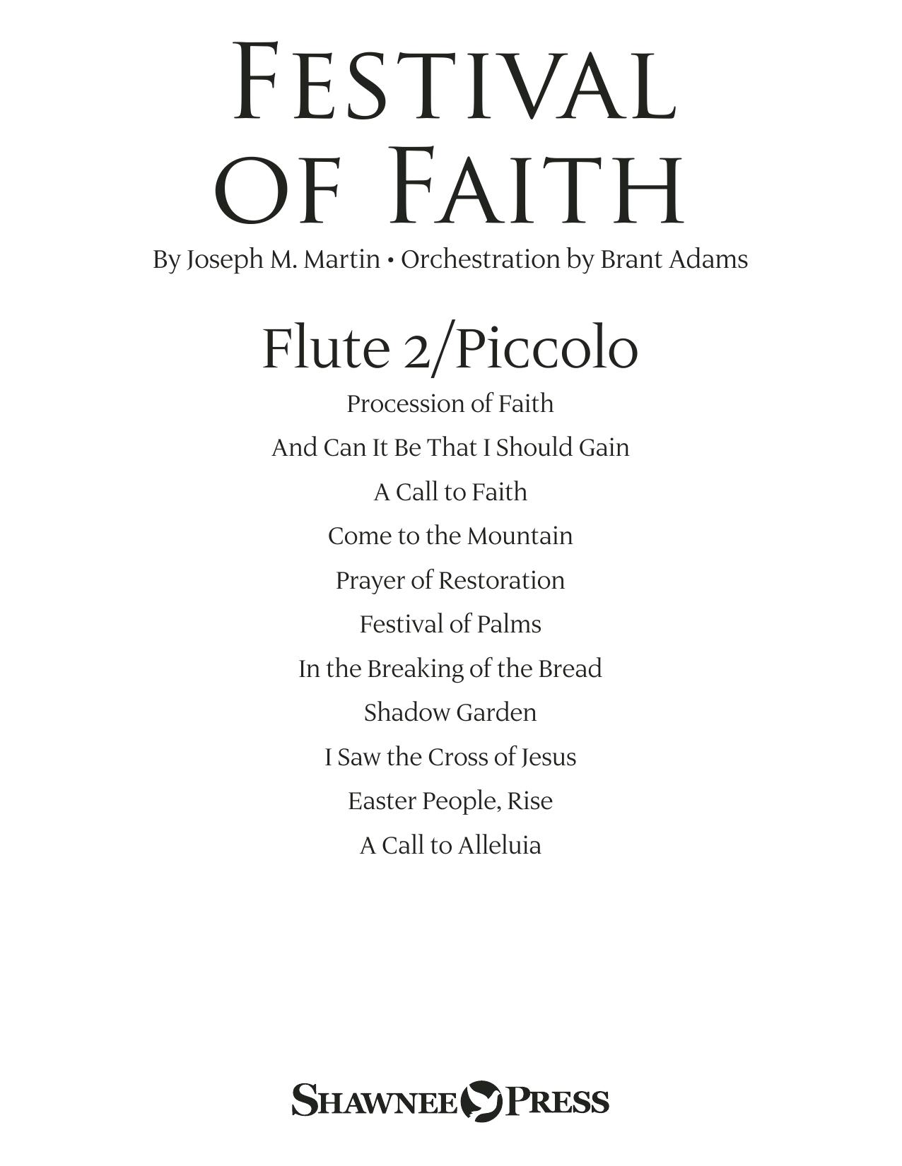 Festival of Faith - Flute 2 (Piccolo) (Choir Instrumental Pak)