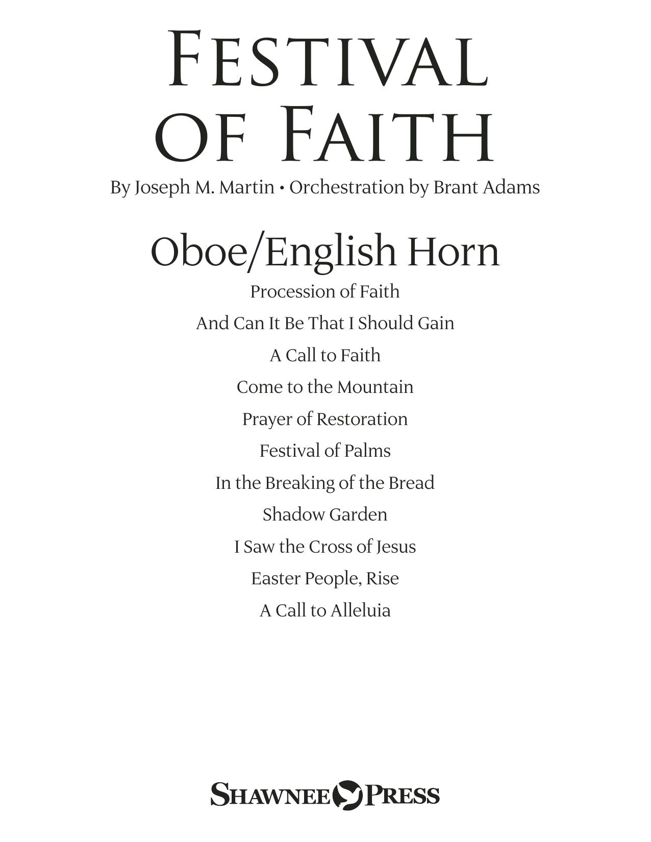 Festival of Faith - Oboe/English Horn (Choir Instrumental Pak)