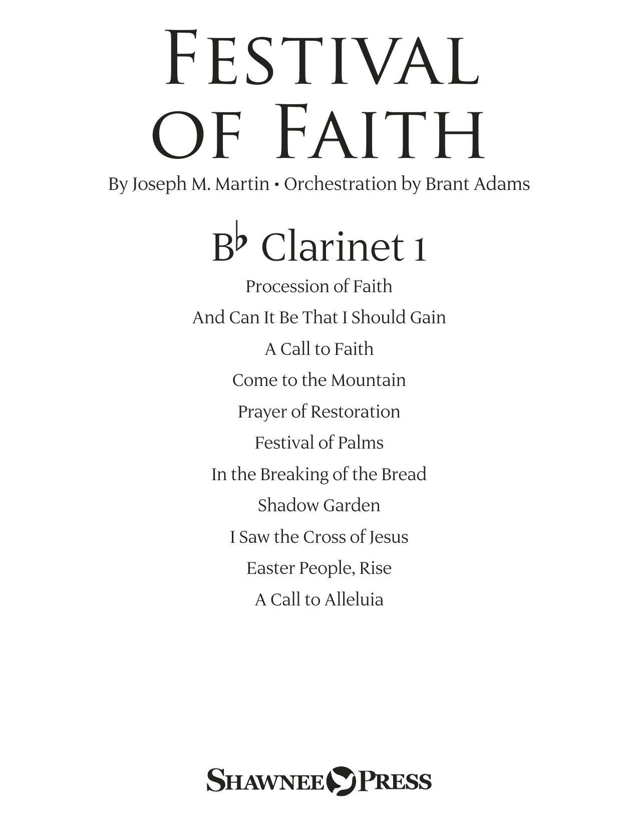 Festival of Faith - Bb Clarinet 1 (Choir Instrumental Pak)