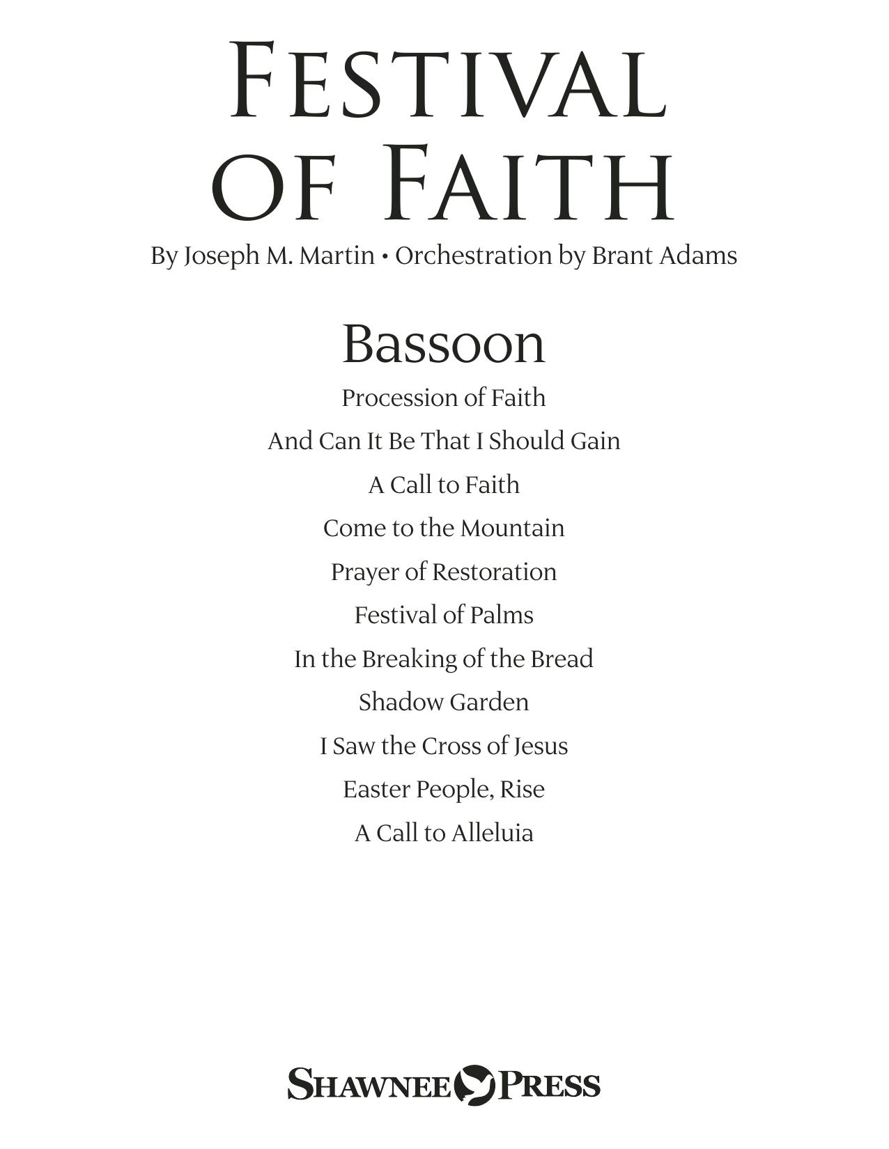 Festival of Faith - Bassoon (Choir Instrumental Pak)