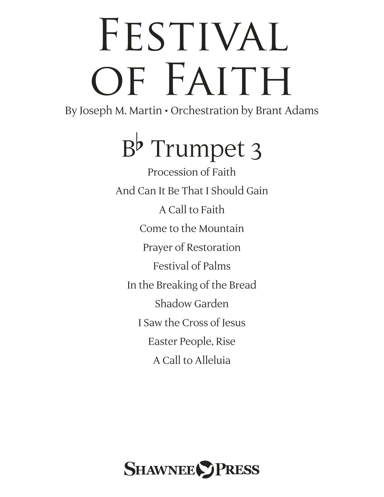Festival of Faith - Bb Trumpet 3 (Choir Instrumental Pak)