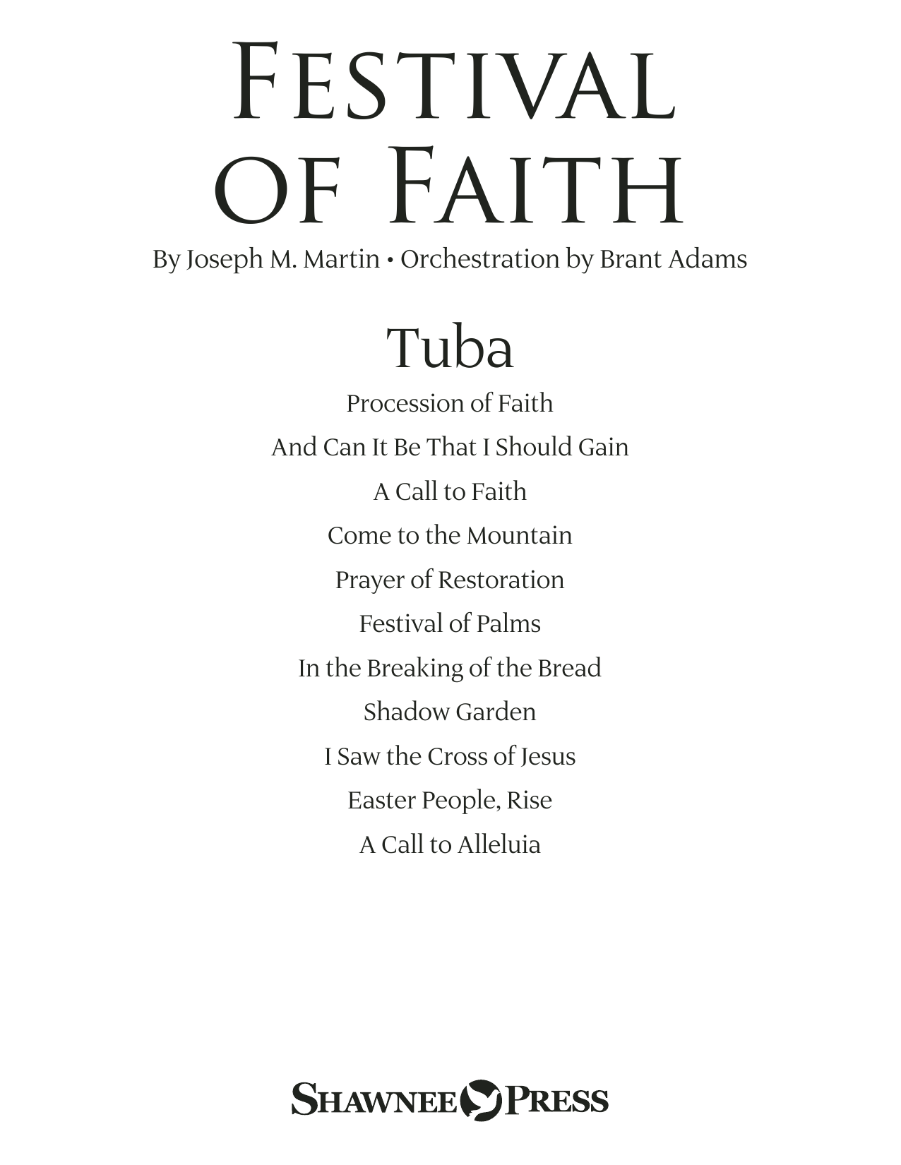 Festival of Faith - Tuba (Choir Instrumental Pak)