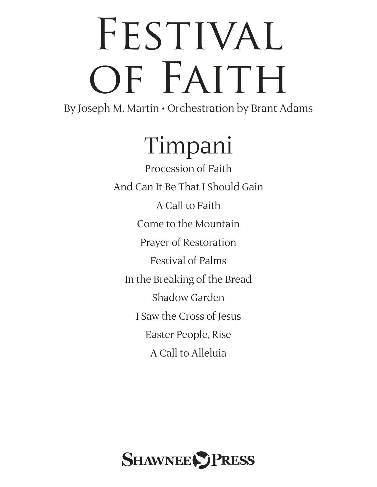 Festival of Faith - Timpani (Choir Instrumental Pak)