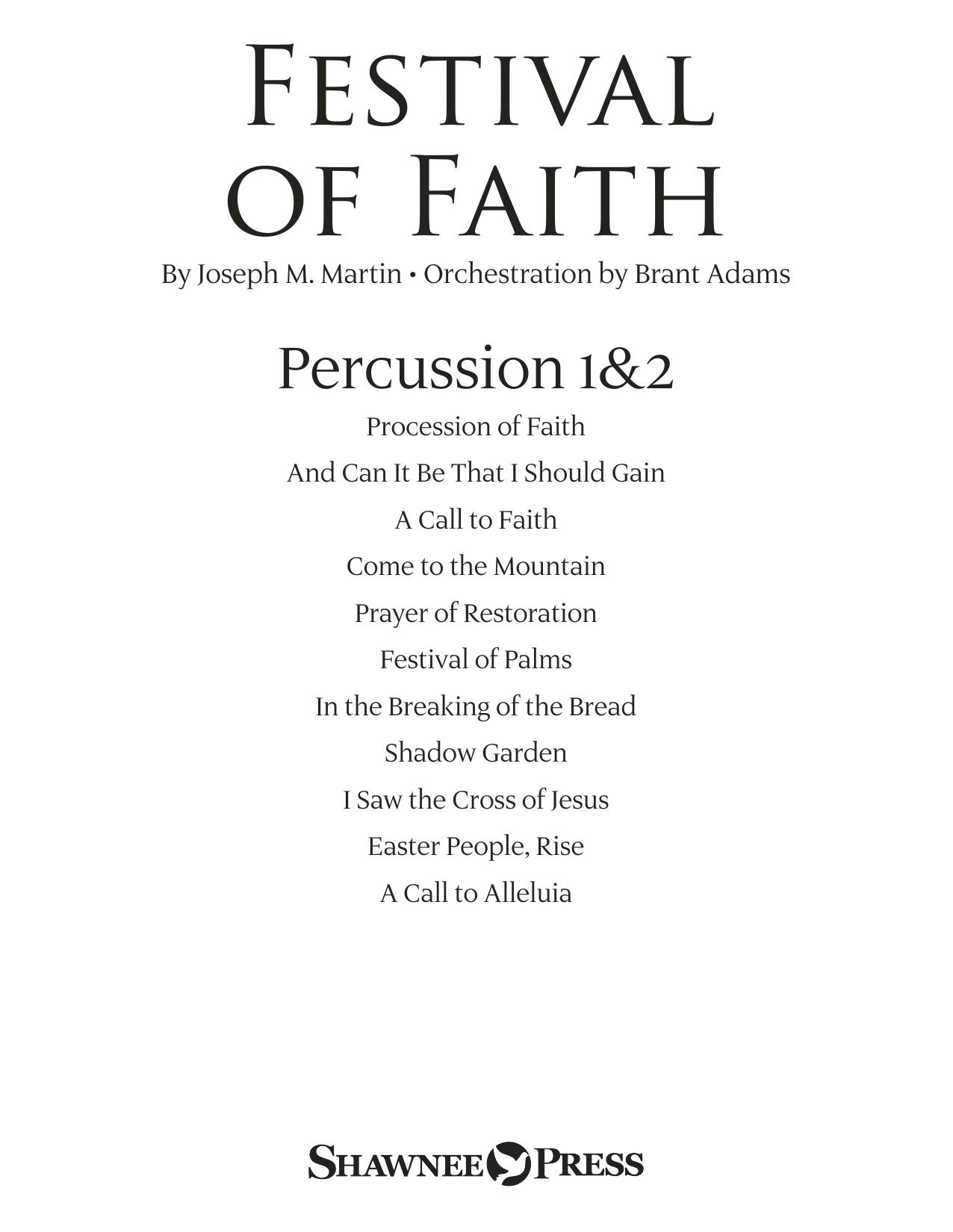 Festival of Faith - Percussion 1 & 2 (Choir Instrumental Pak)