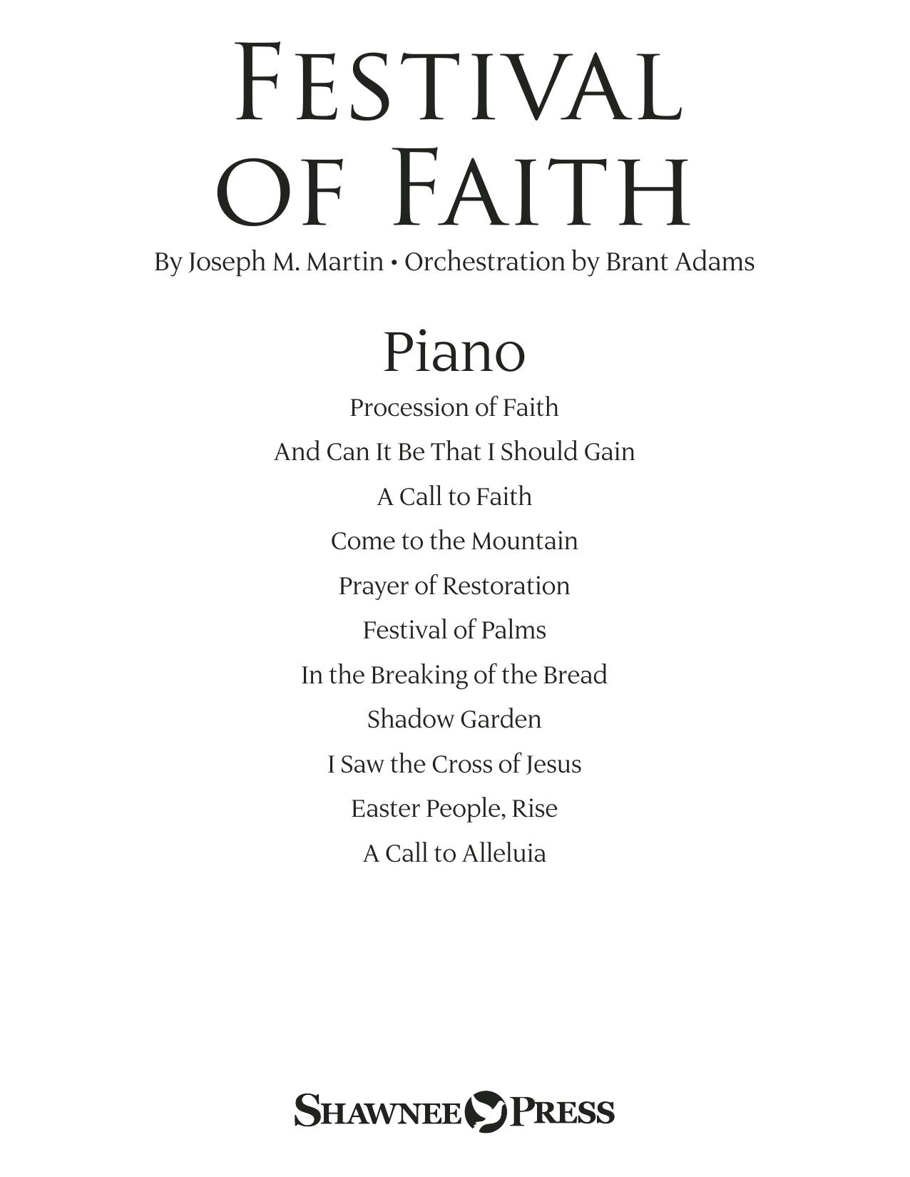 Festival of Faith - Piano (Choir Instrumental Pak)