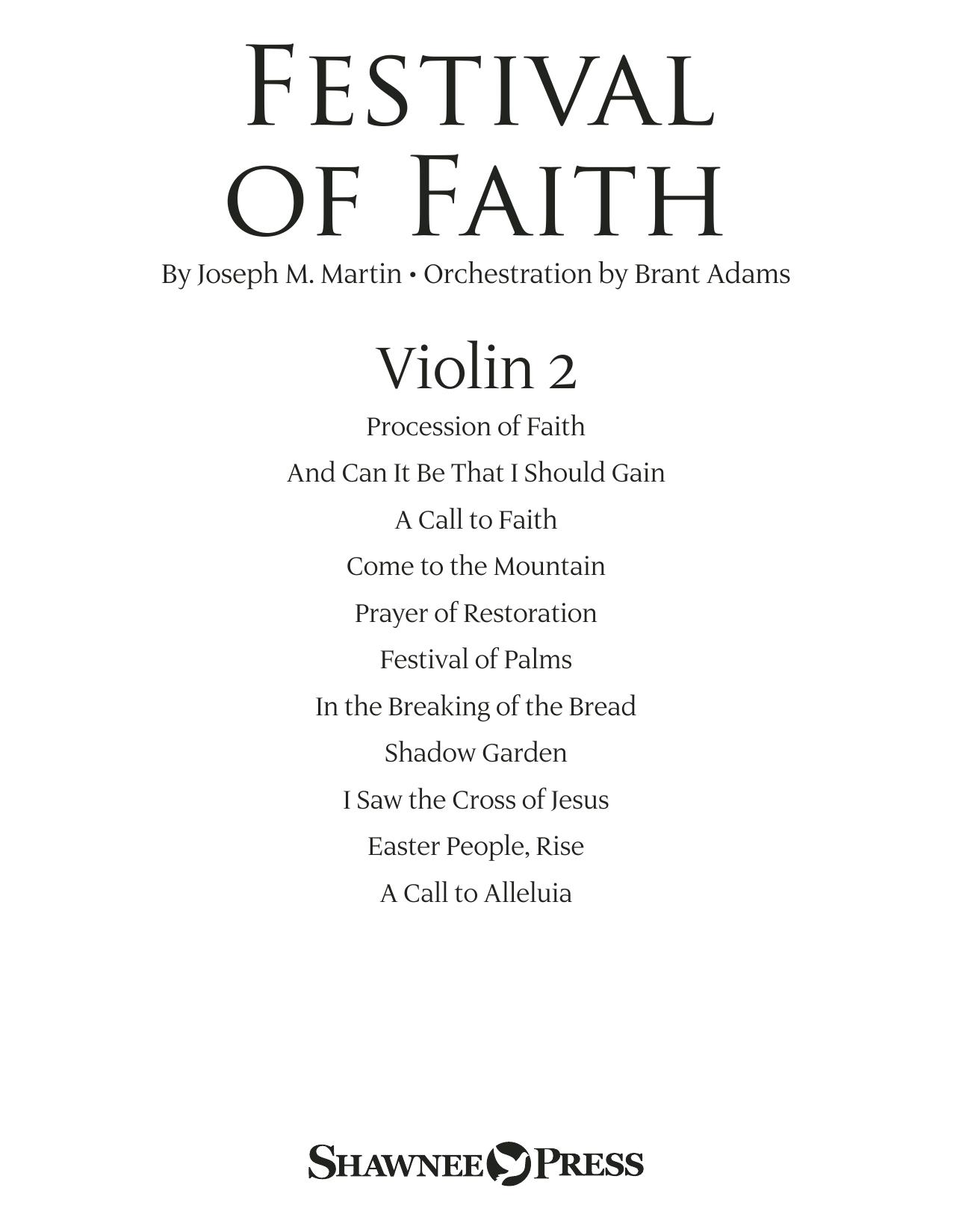Festival of Faith - Violin 2 (Choir Instrumental Pak)