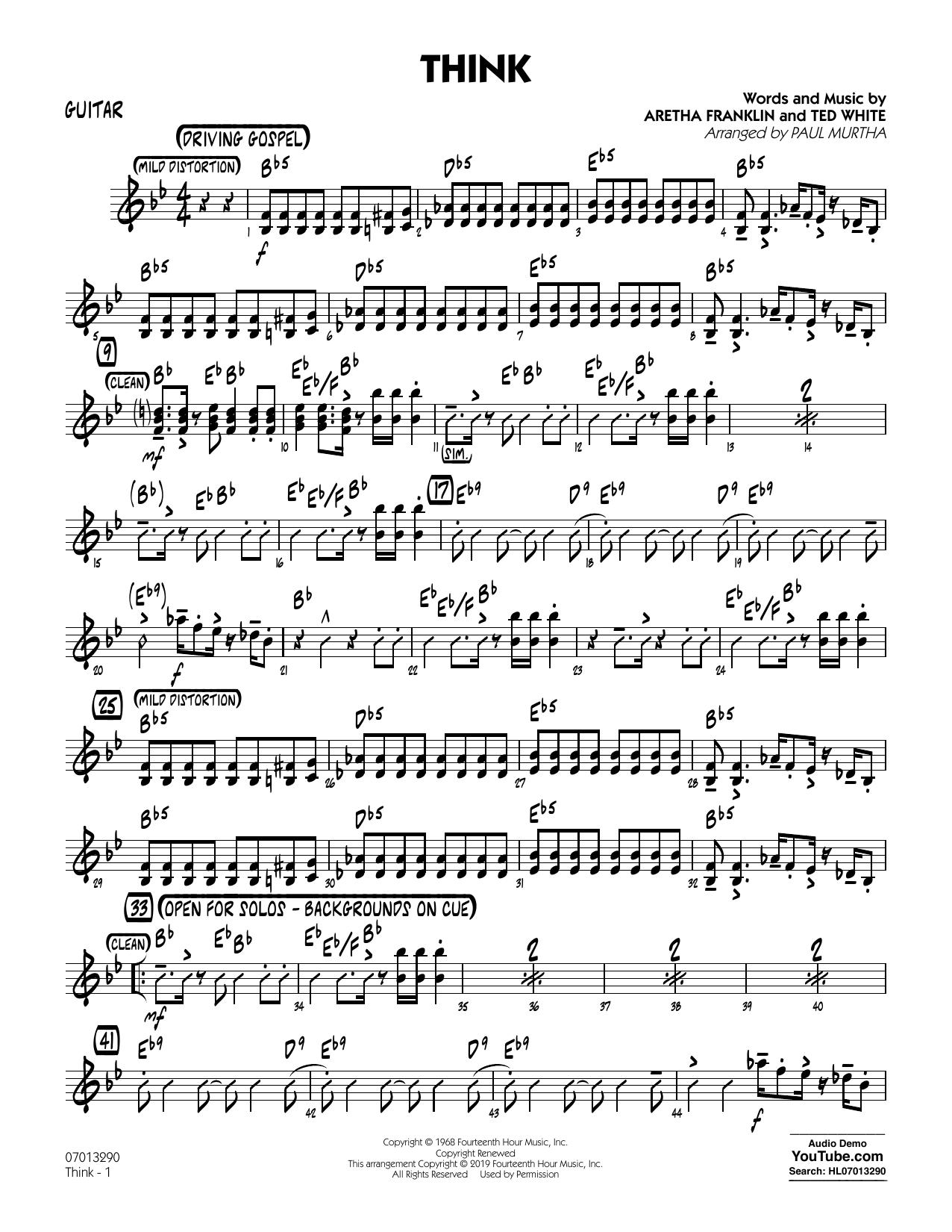 Think (arr. Paul Murtha) - Guitar (Jazz Ensemble)