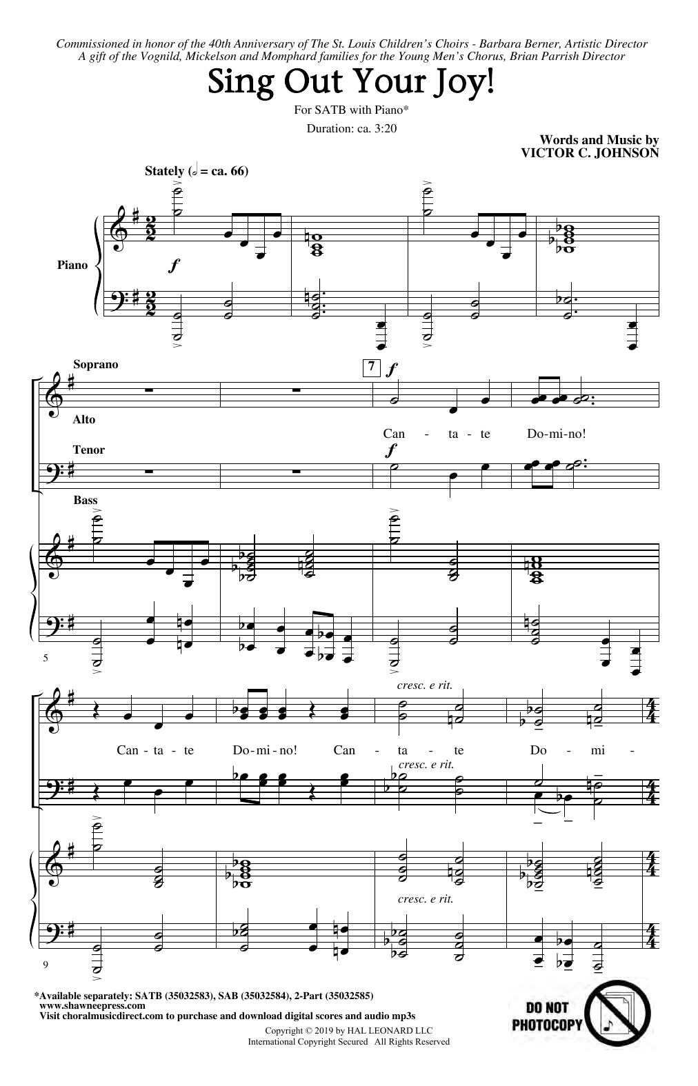 Sing Out Your Joy! (SATB Choir)