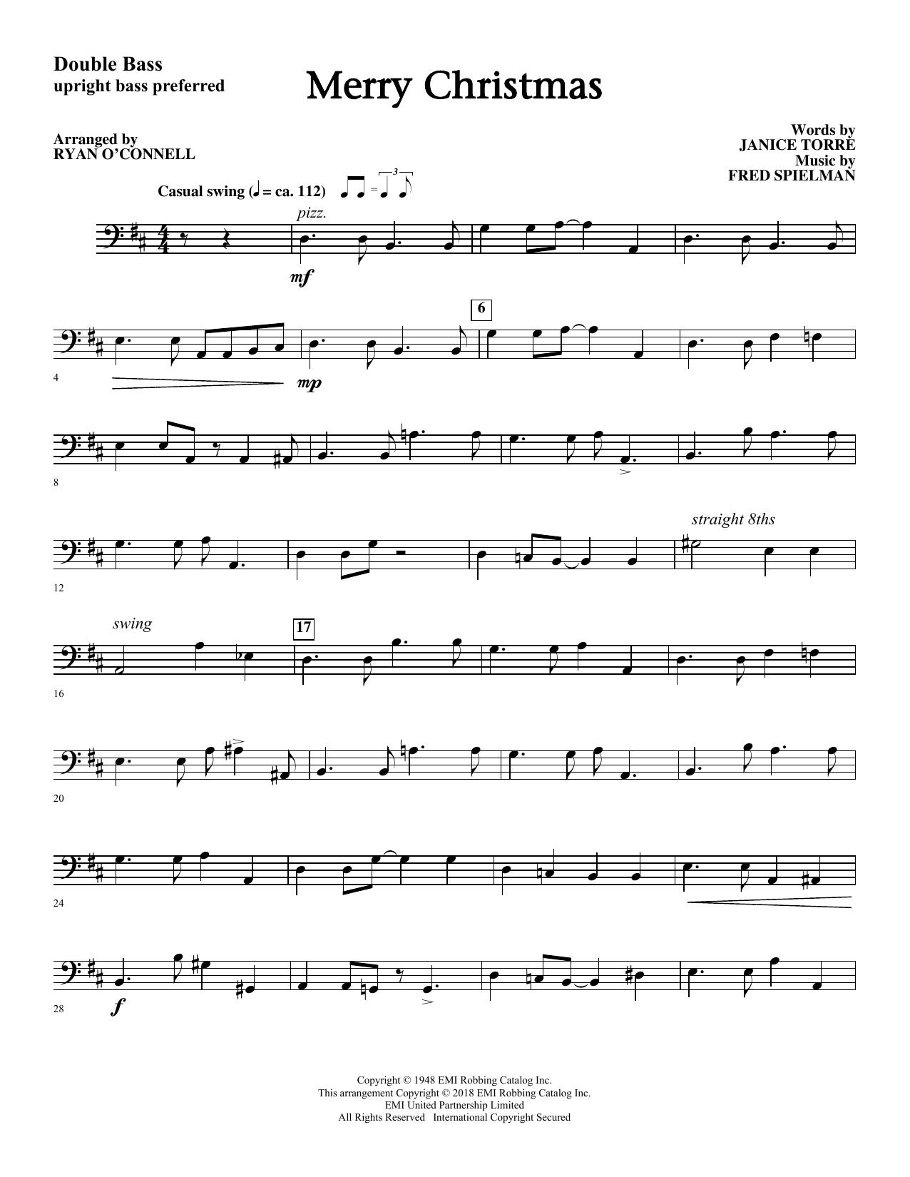 Merry Christmas (arr. Ryan O'Connell) - Bass Sheet Music