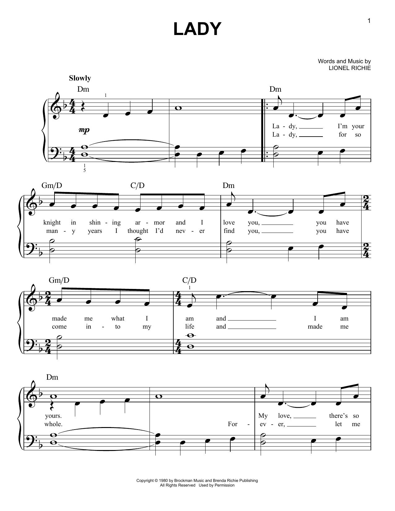 Lady (Easy Piano)