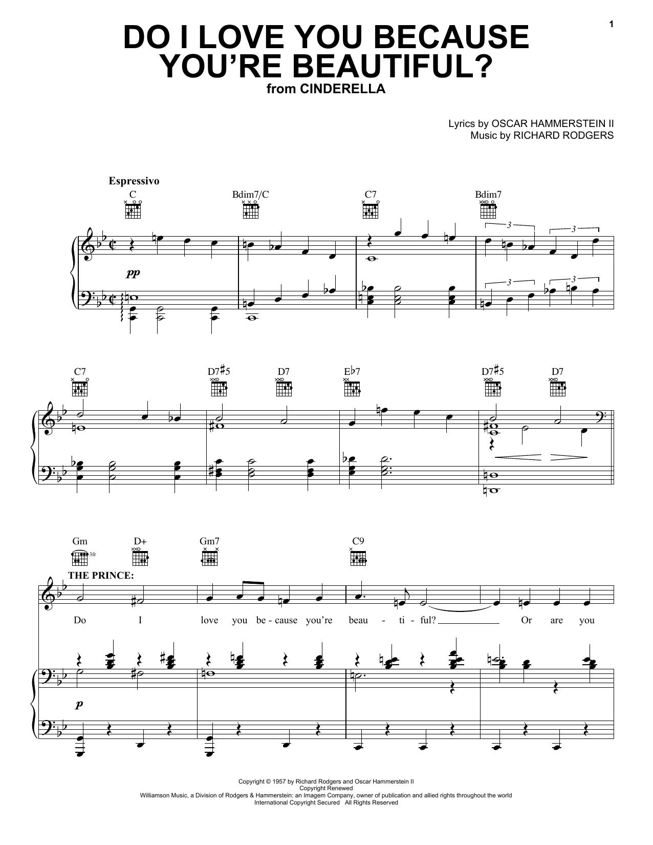 Do I Love You Because You're Beautiful? (Vocal Pro + Piano/Guitar)