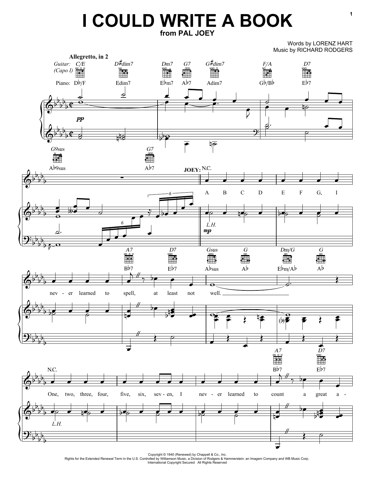 7 Years Piano Pdf i could write a bookrodgers & hart real book – melody, lyrics & chords  – c instruments digital sheet music