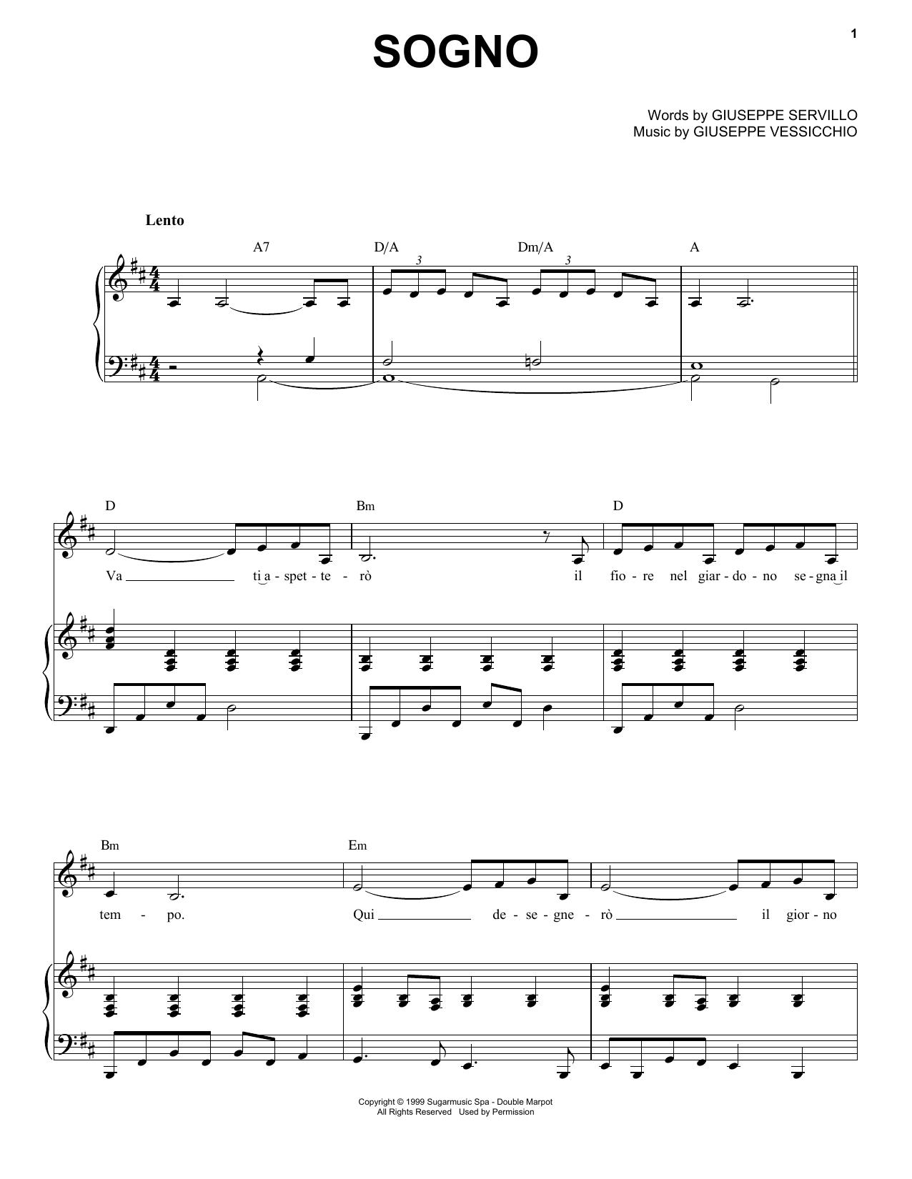 Sogno (Piano & Vocal)