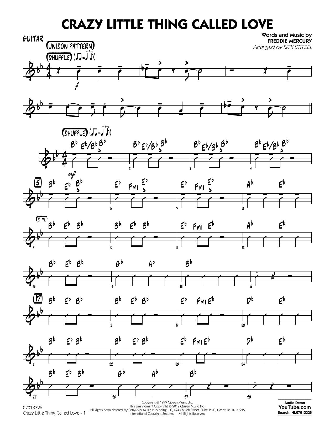Crazy Little Thing Called Love (arr. Rick Stitzel) - Guitar (Jazz Ensemble)