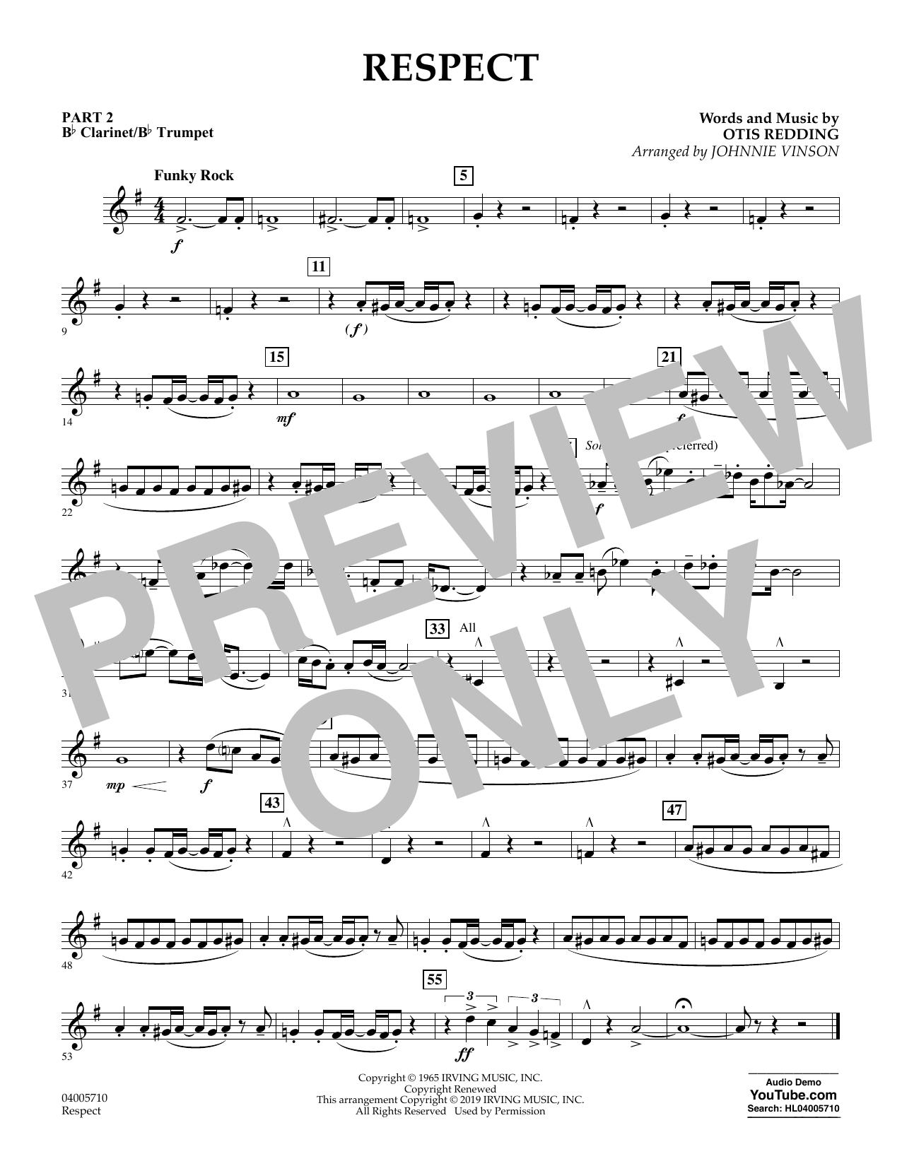 Respect (arr. Johnnie Vinson) - Pt.2 - Bb Clarinet/Bb Trumpet (Concert Band: Flex-Band)
