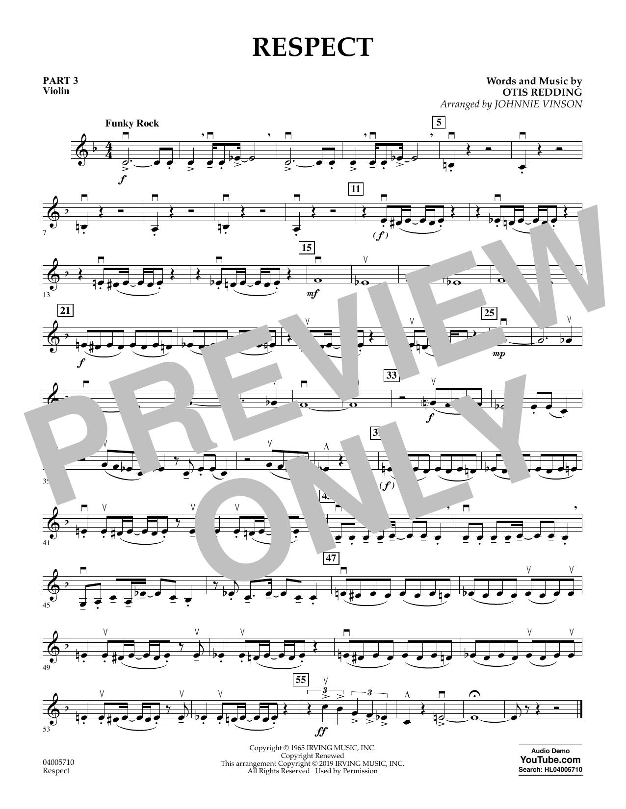 Respect (arr. Johnnie Vinson) - Pt.3 - Violin (Flex-Band)